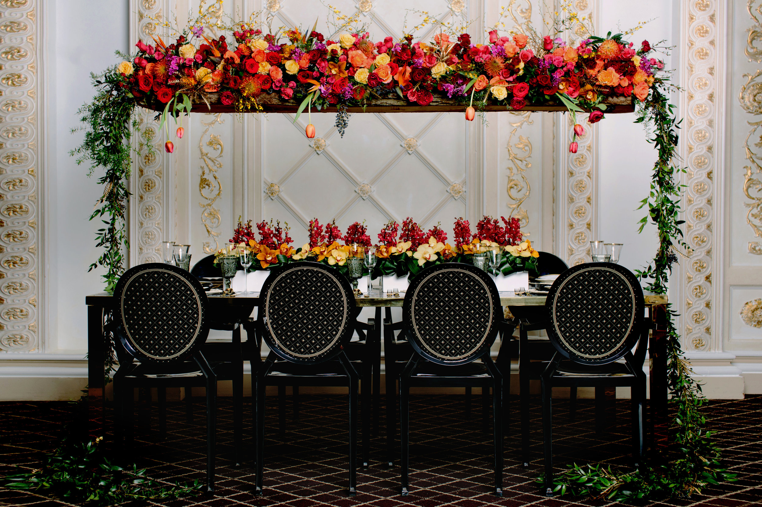August In Bloom - Reception tablescape - Love, Balmain (Wedluxe)
