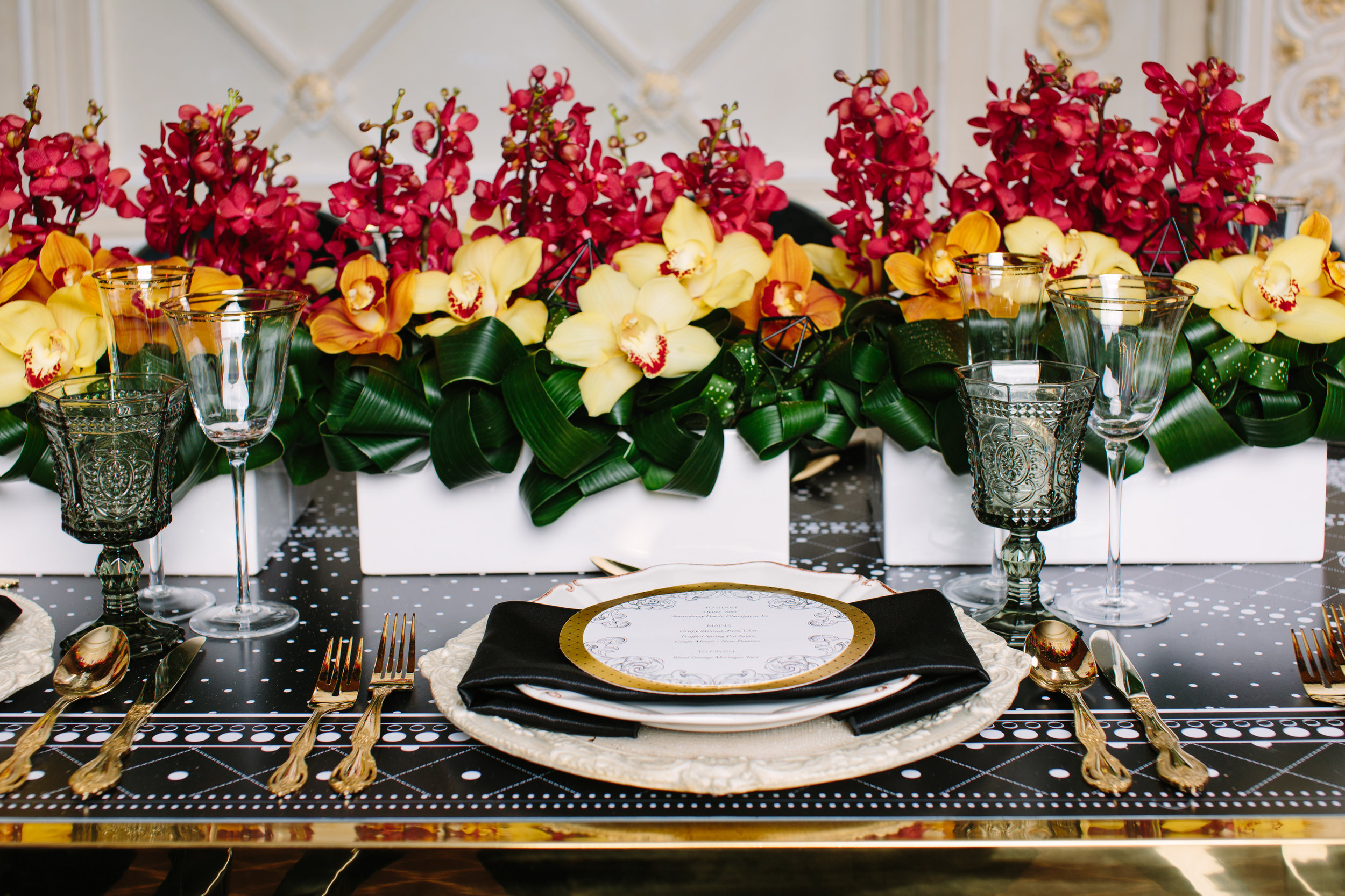 August In Bloom - Elaborate tablescape - Love, Balmain (Wedluxe)