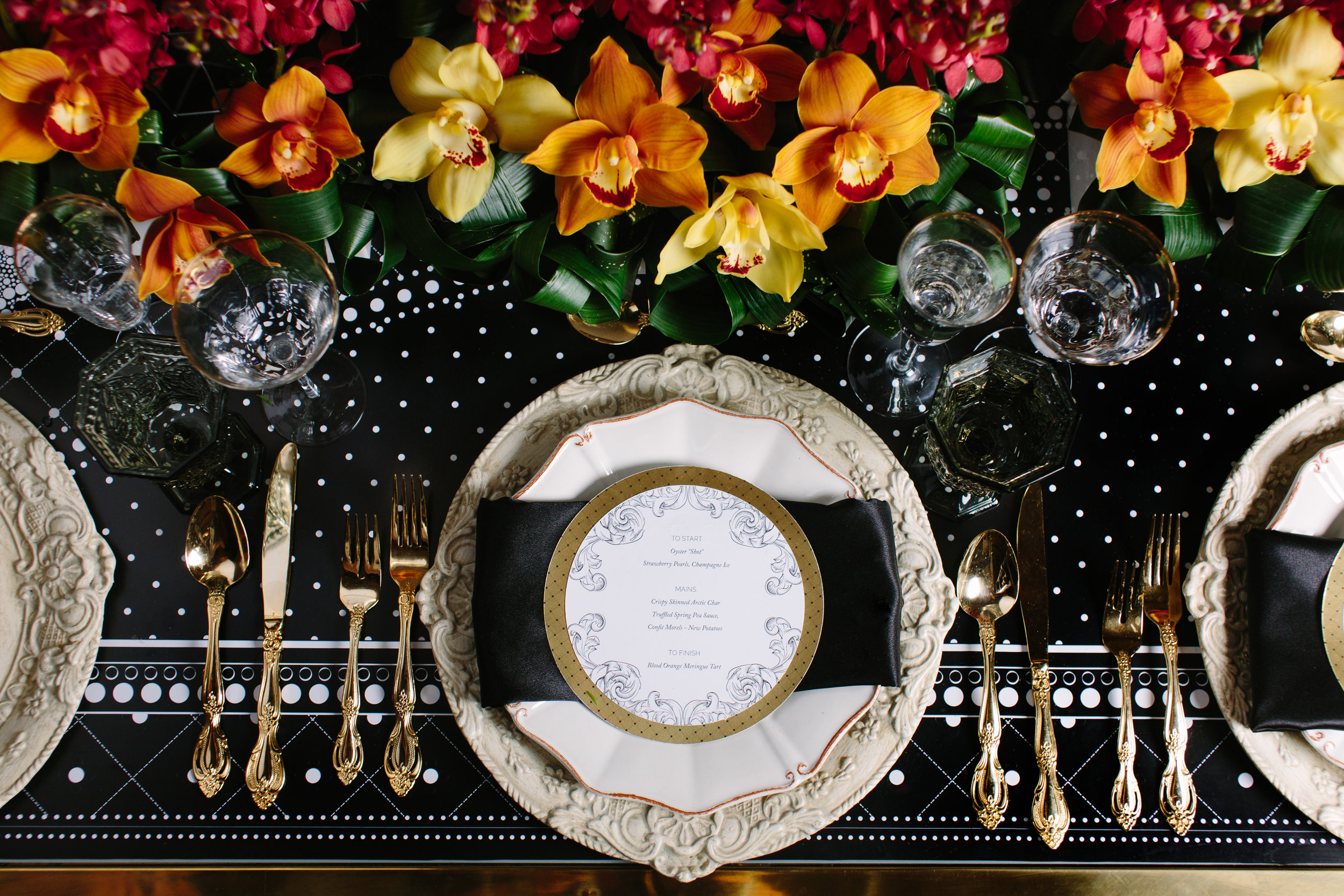 August In Bloom - Reception tableware - Love, Balmain (Wedluxe)