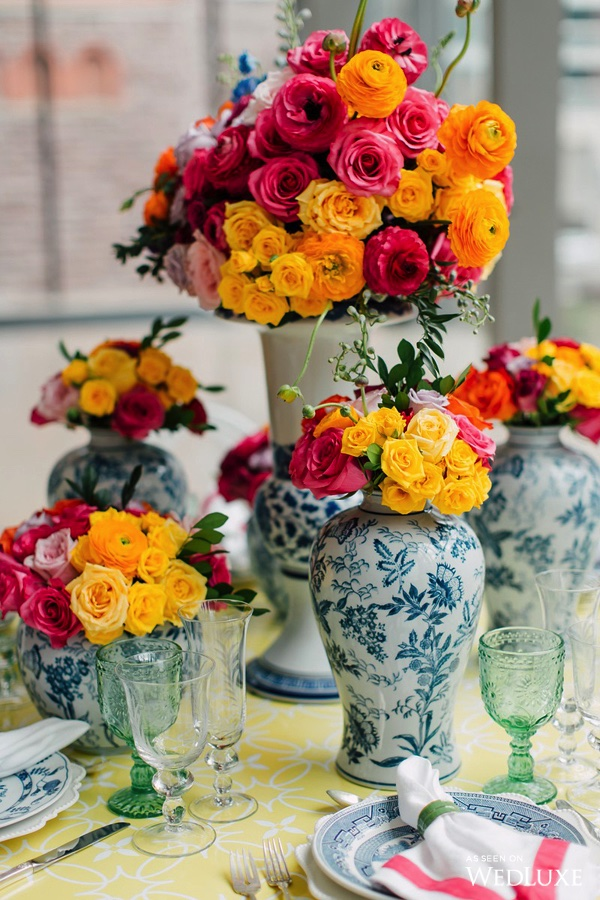 August In Bloom - Colourful reception - Dreaming of Oscar (Wedluxe)