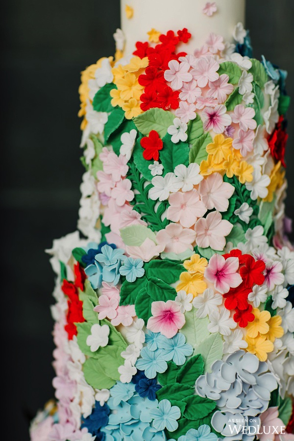 August In Bloom - Colourful floral cake - Dreaming of Oscar (Wedluxe)