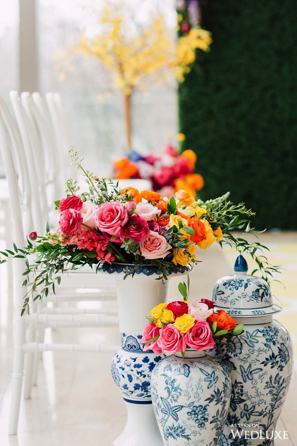 August In Bloom - Colourful garden ceremony - Dreaming of Oscar (Wedluxe)