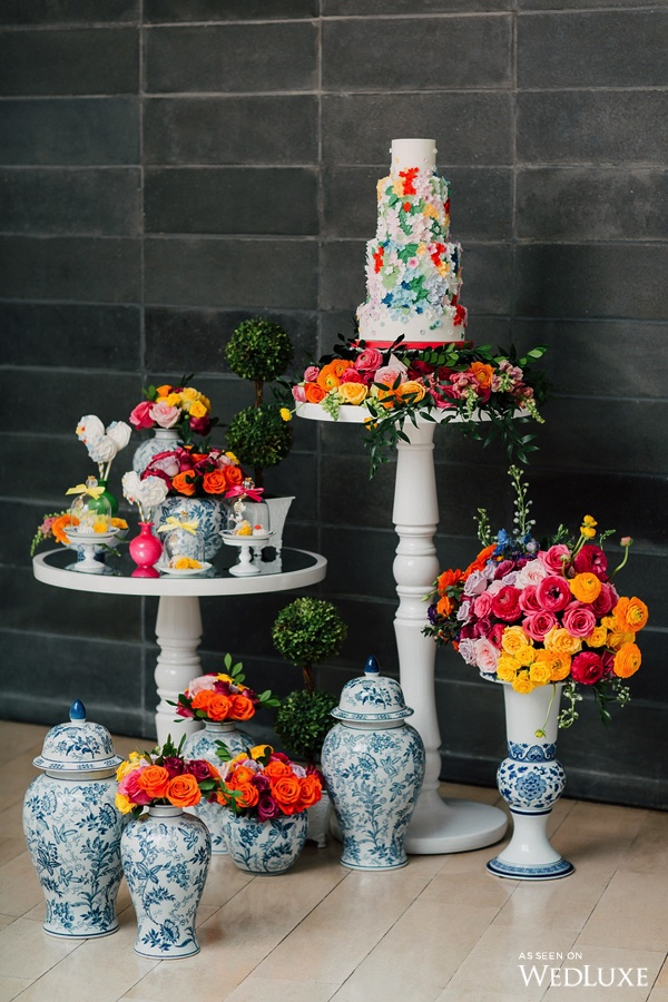 August In Bloom - Colourful sweet table - Dreaming of Oscar (Wedluxe)