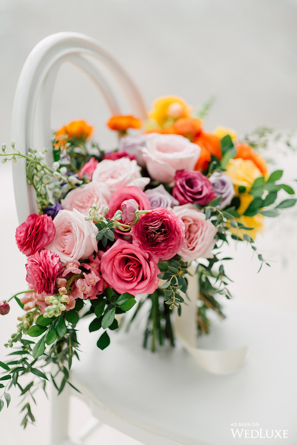 August In Bloom - Colourful bouquet - Dreaming of Oscar (Wedluxe)