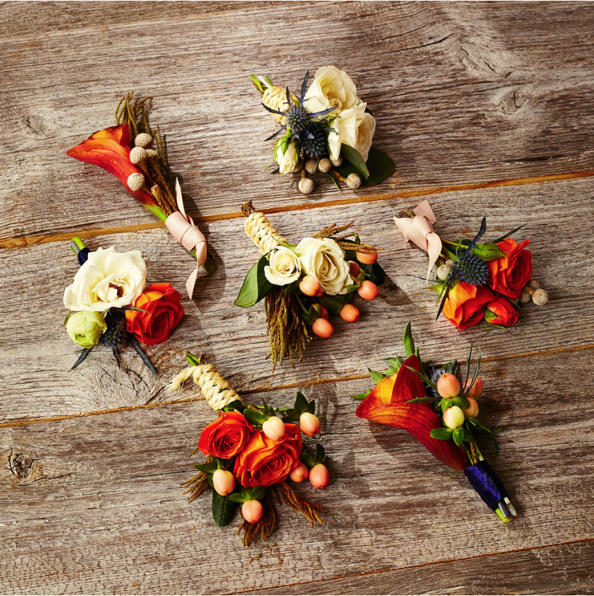 August In Bloom - Fall boutonnieres - The New Romance (Weddingbells)