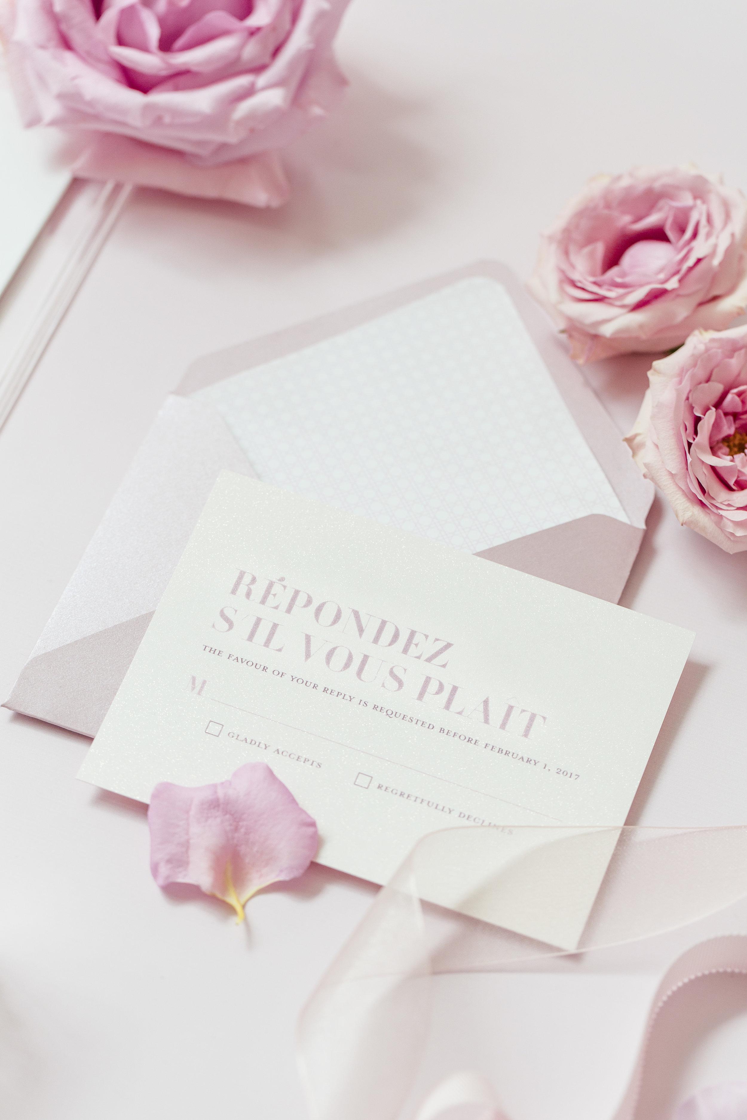 August In Bloom - Invitation Suite RSVP - Dior Darling (Wedluxe)