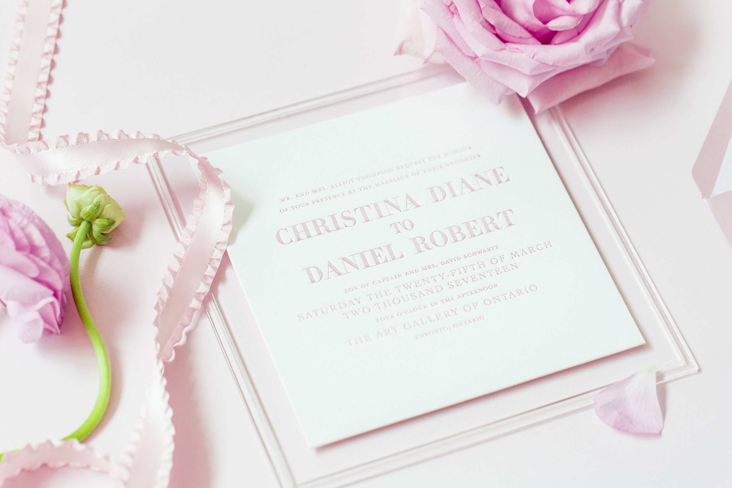 August In Bloom - Main invite - Dior Darling (Wedluxe)