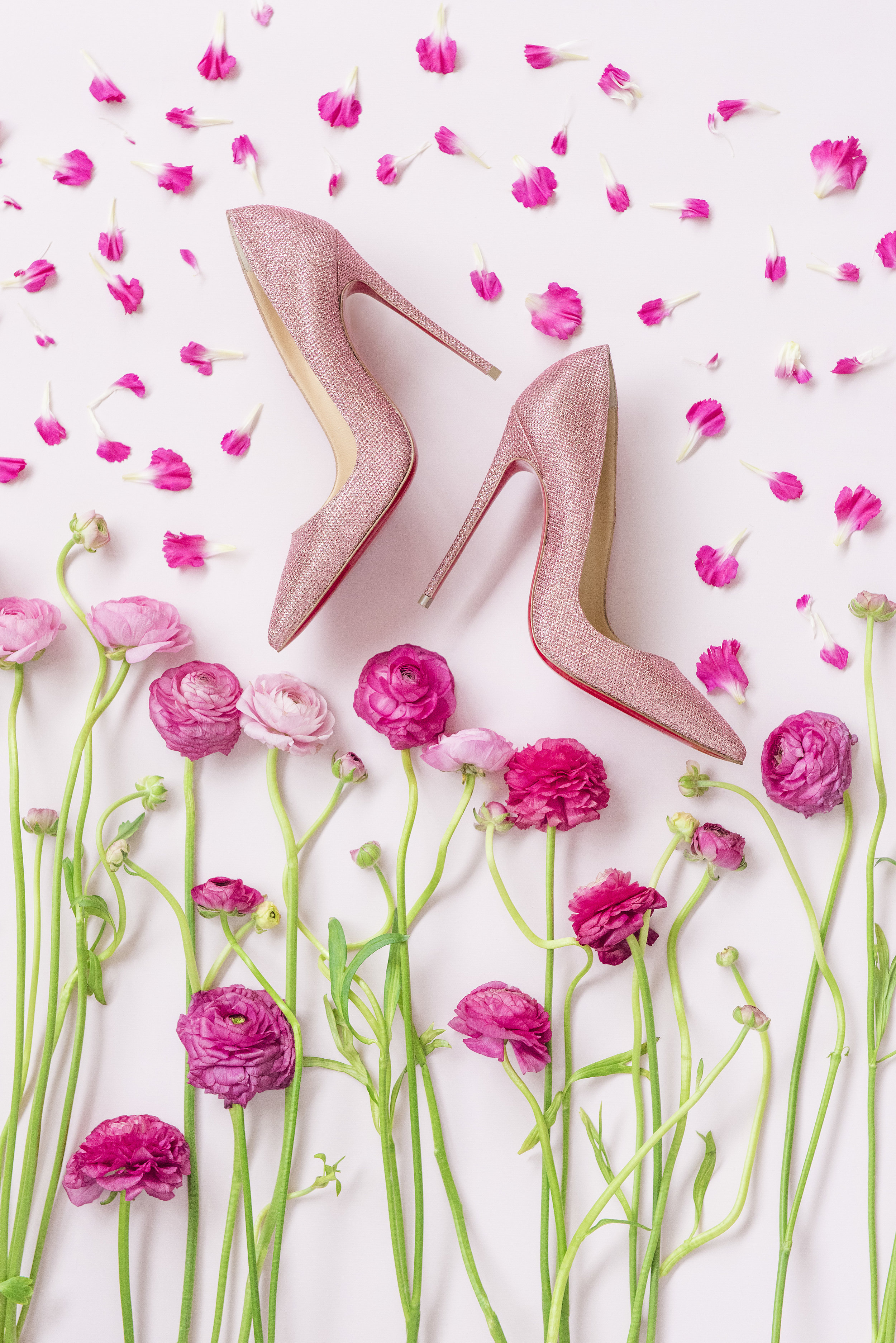 August In Bloom - Wedding Shoes Christian Louboutins - Dior Darling (Wedluxe)
