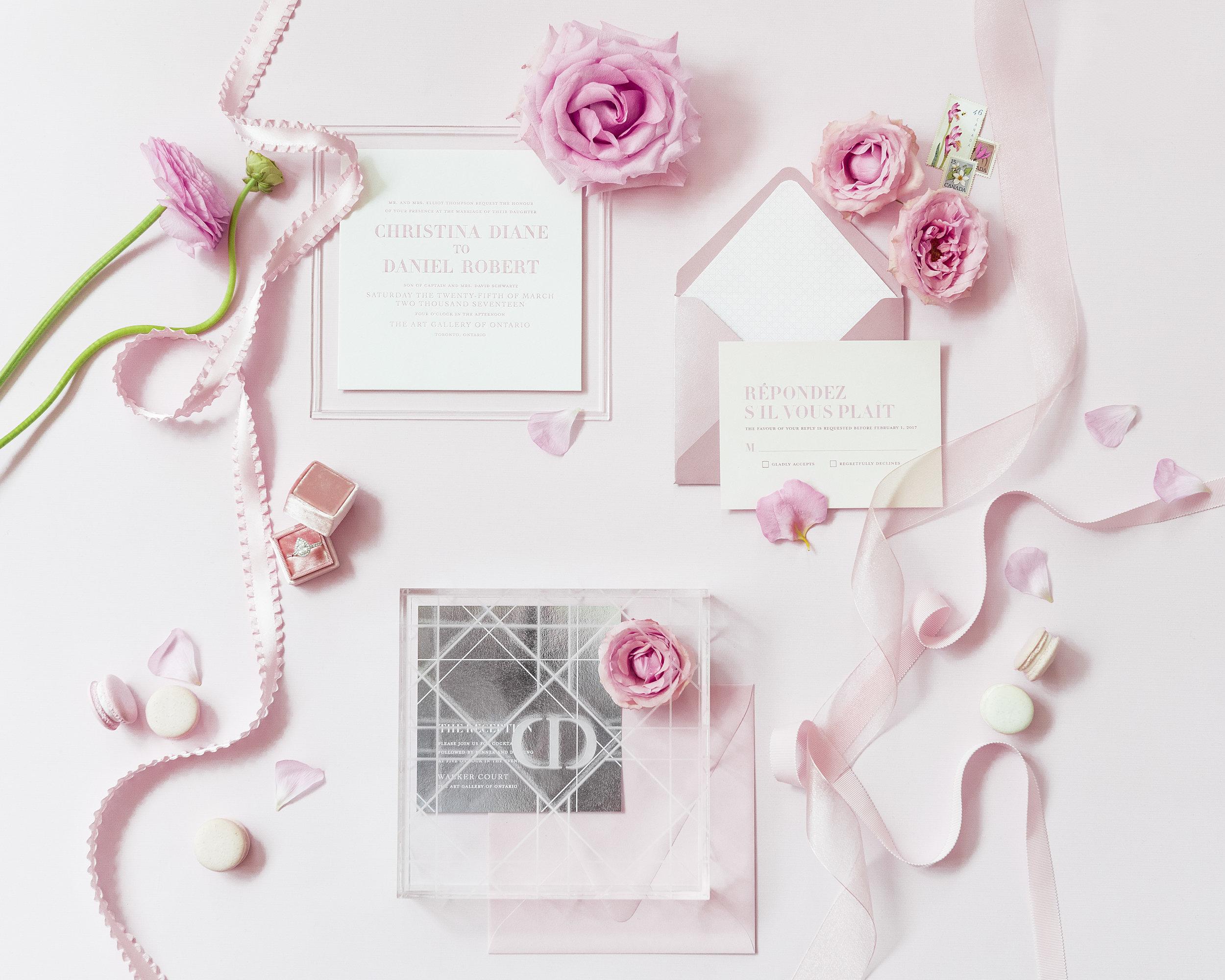 August In Bloom - Invitation Suite - Dior Darling (Wedluxe)