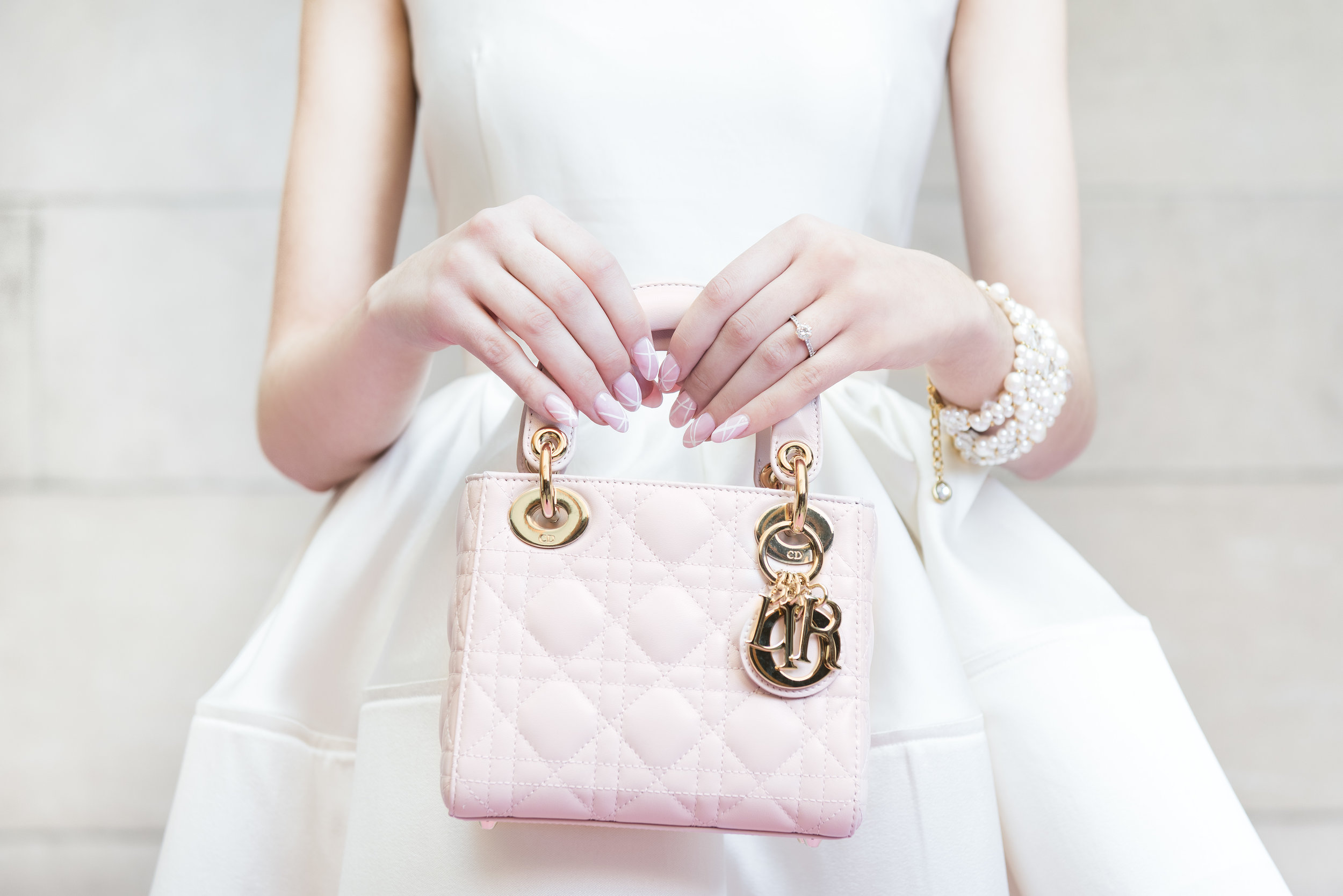 August In Bloom - Dior purse & nail art - Dior Darling (Wedluxe)