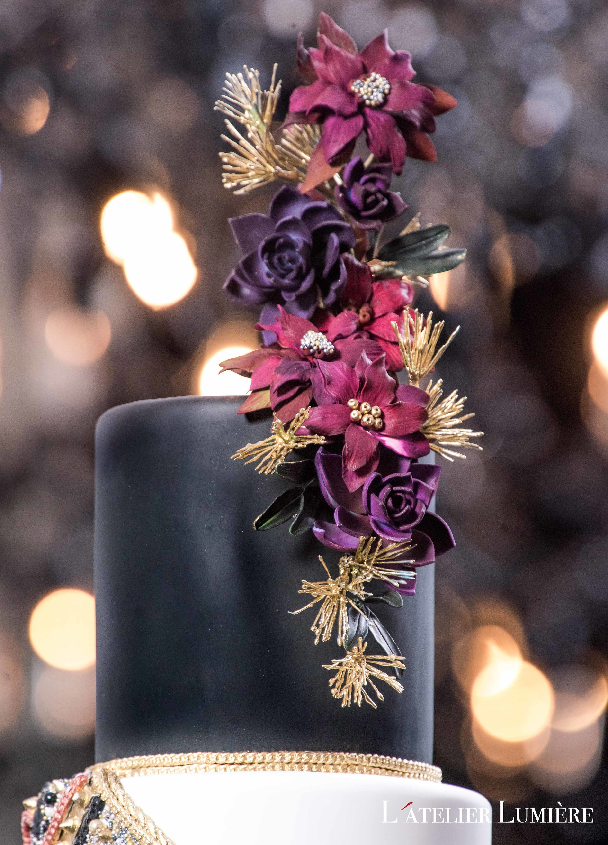 August In Bloom - Floral cake topper - Riri (Grace Ormond Wedding)