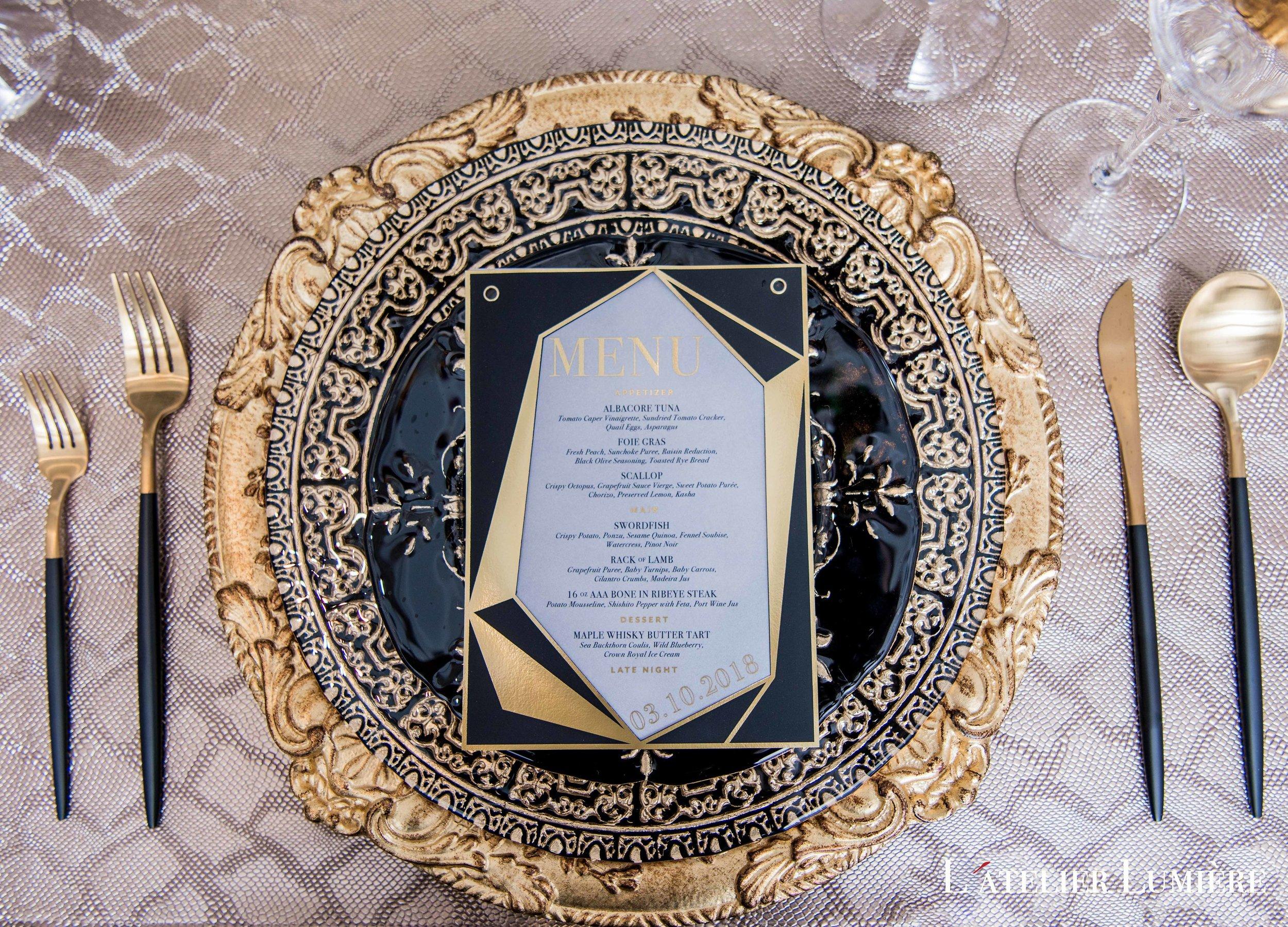 August In Bloom - Tableware and menu - Riri (Grace Ormond Wedding)
