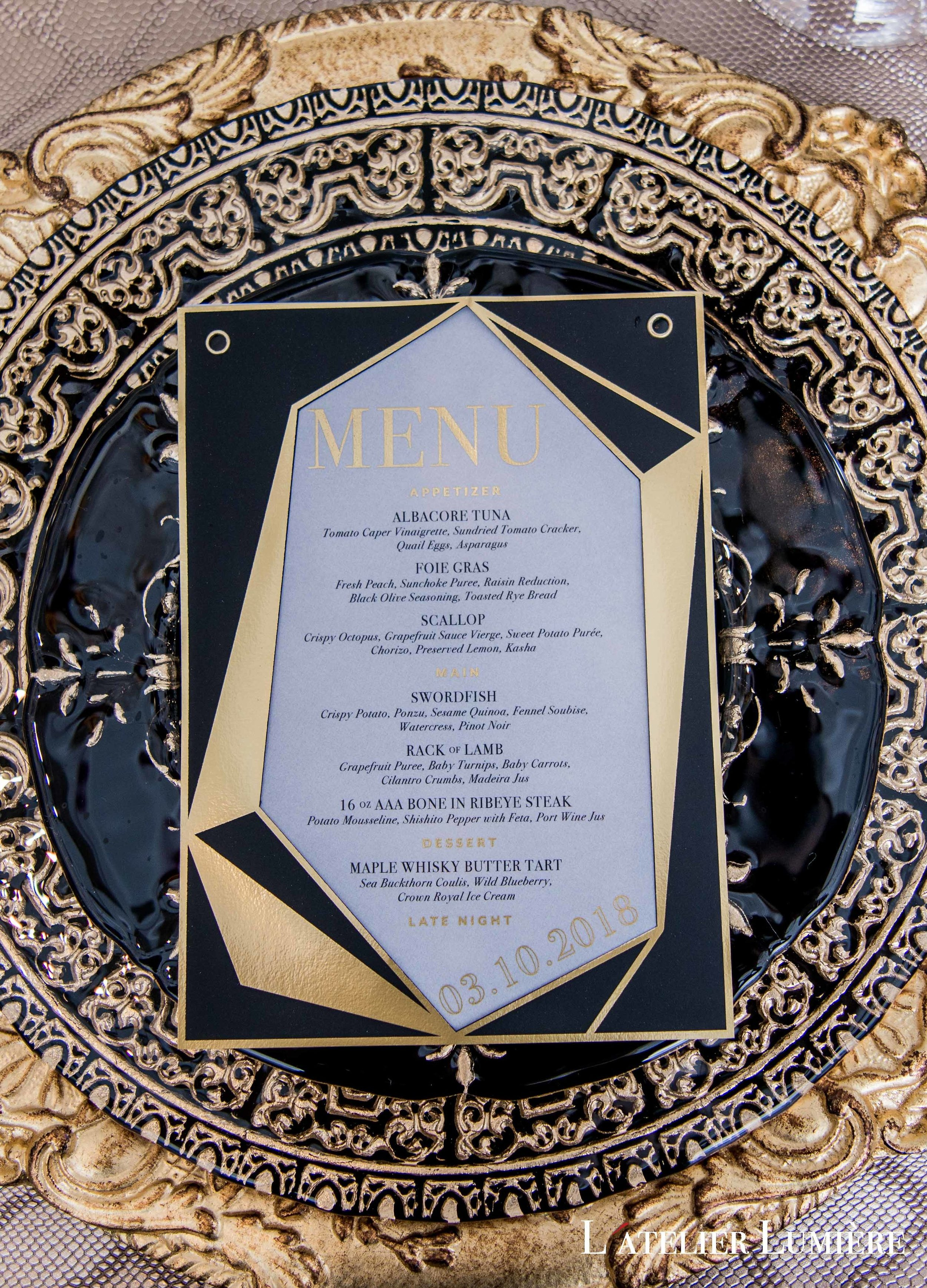 August In Bloom - Menu - Riri (Grace Ormond Wedding)