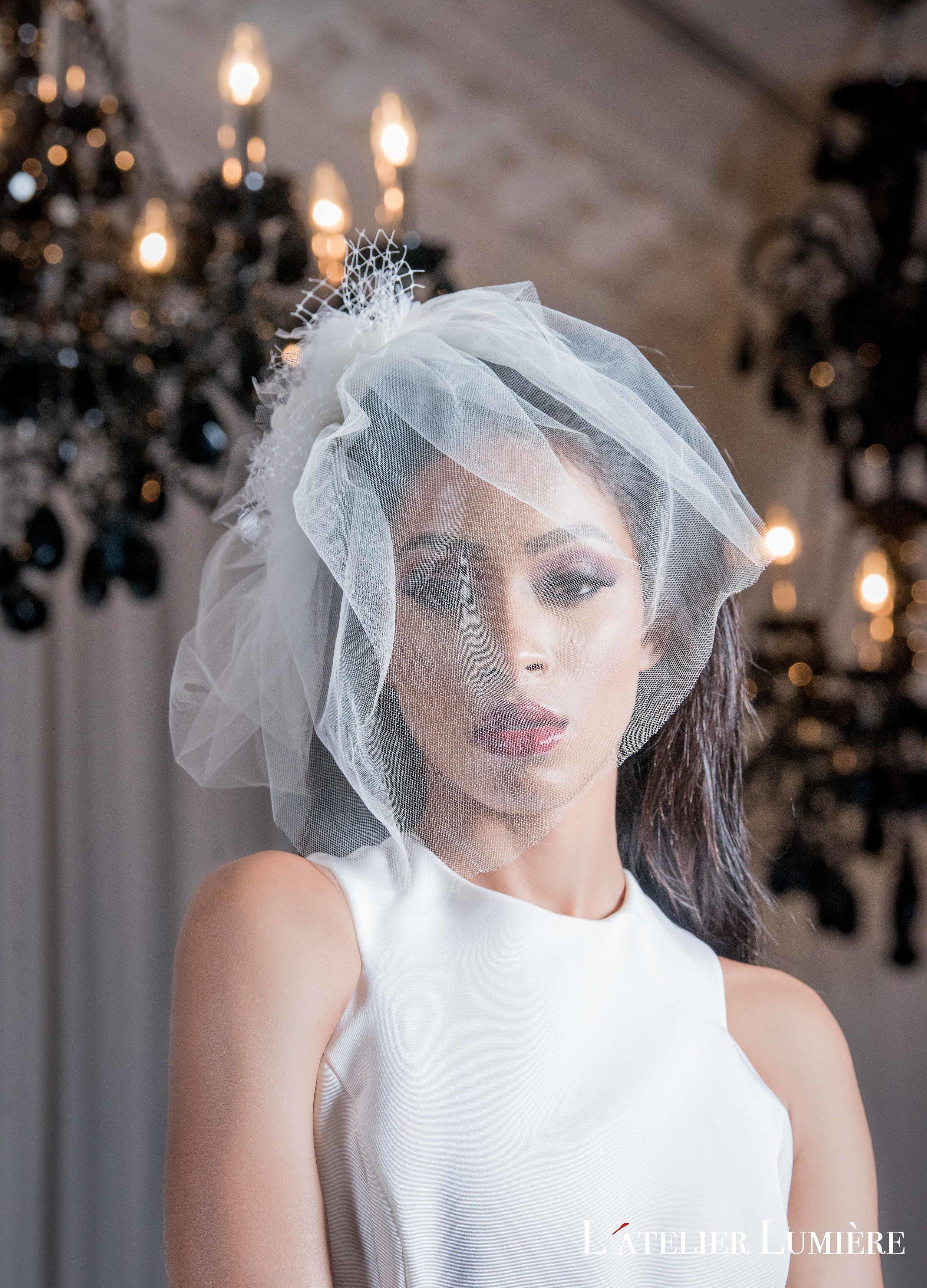 August In Bloom - Bride wearing veil - Riri (Grace Ormond Wedding)