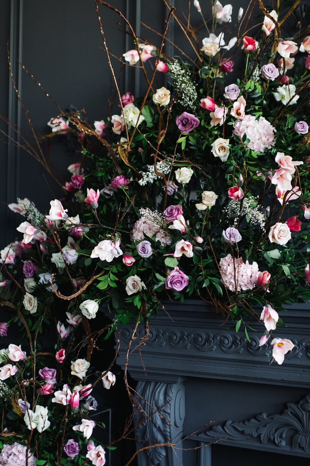 August In Bloom - Lush garland up close - Magnolia Dreams (The Bridal Affair)