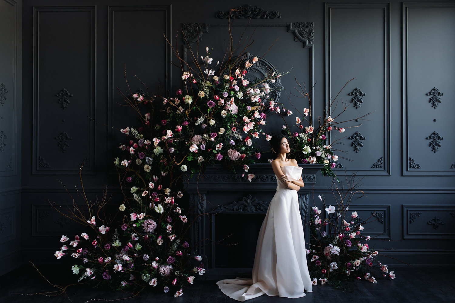August In Bloom - Bride at ceremony - Magnolia Dreams (The Bridal Affair)