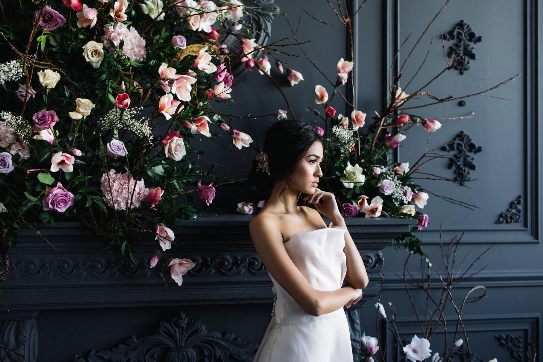 August In Bloom - Bride at ceremony - Magnolia Dreams (The Bridal Affair)