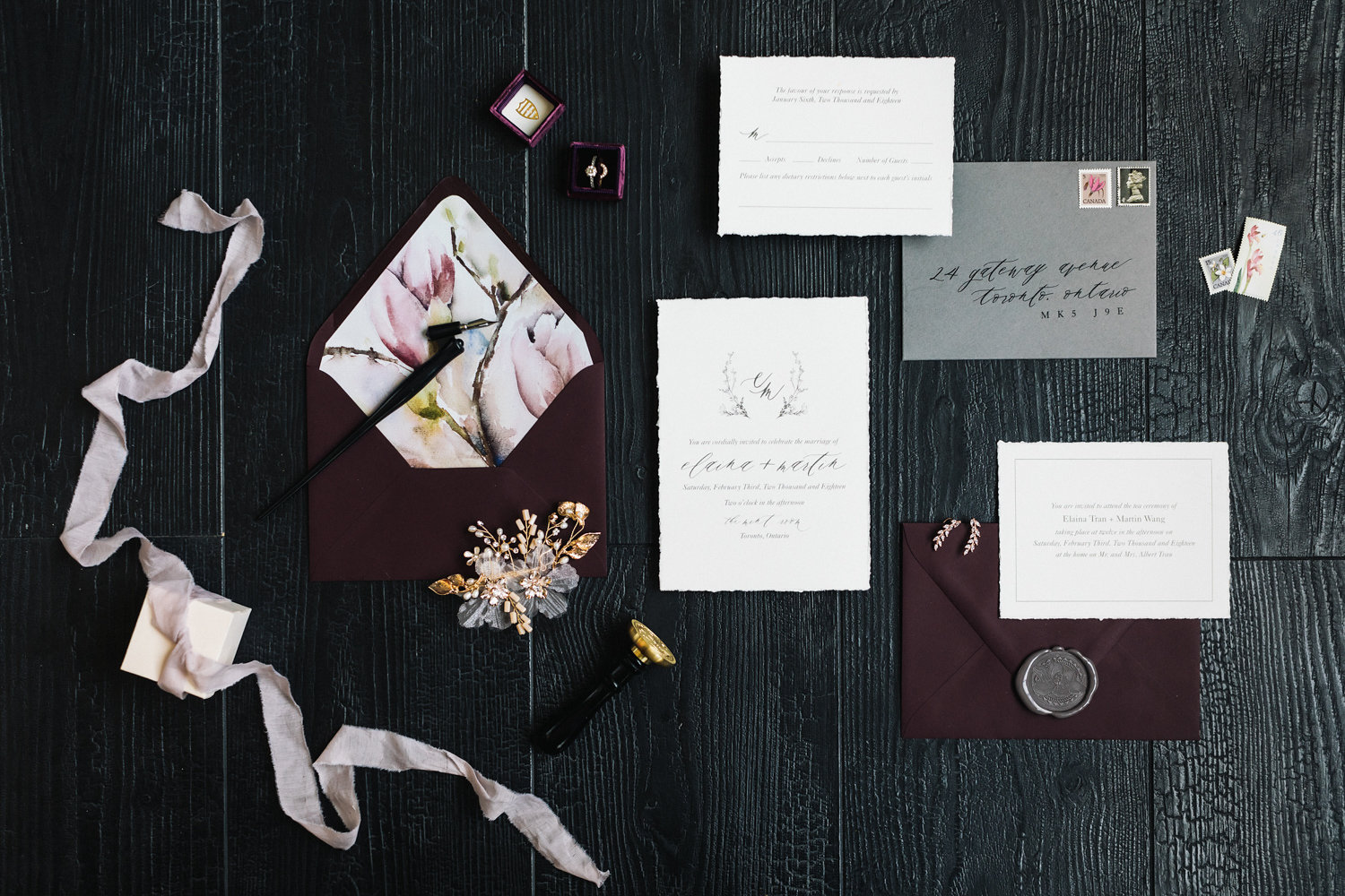 August In Bloom - Invitation suite - Magnolia Dreams (The Bridal Affair)
