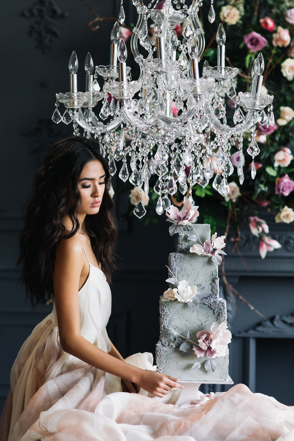 August In Bloom - Bride and decadent cake - Magnolia Dreams (The Bridal Affair)