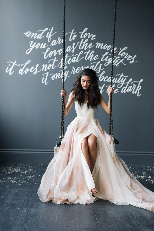 August In Bloom - Bride on swing - Magnolia Dreams (The Bridal Affair)