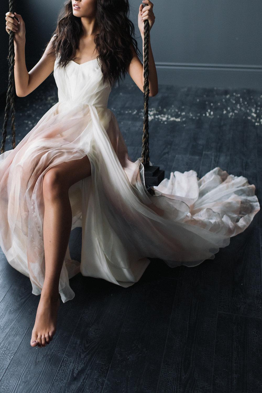August In Bloom - Wedding heels - Bride on swing - Magnolia Dreams (The Bridal Affair)