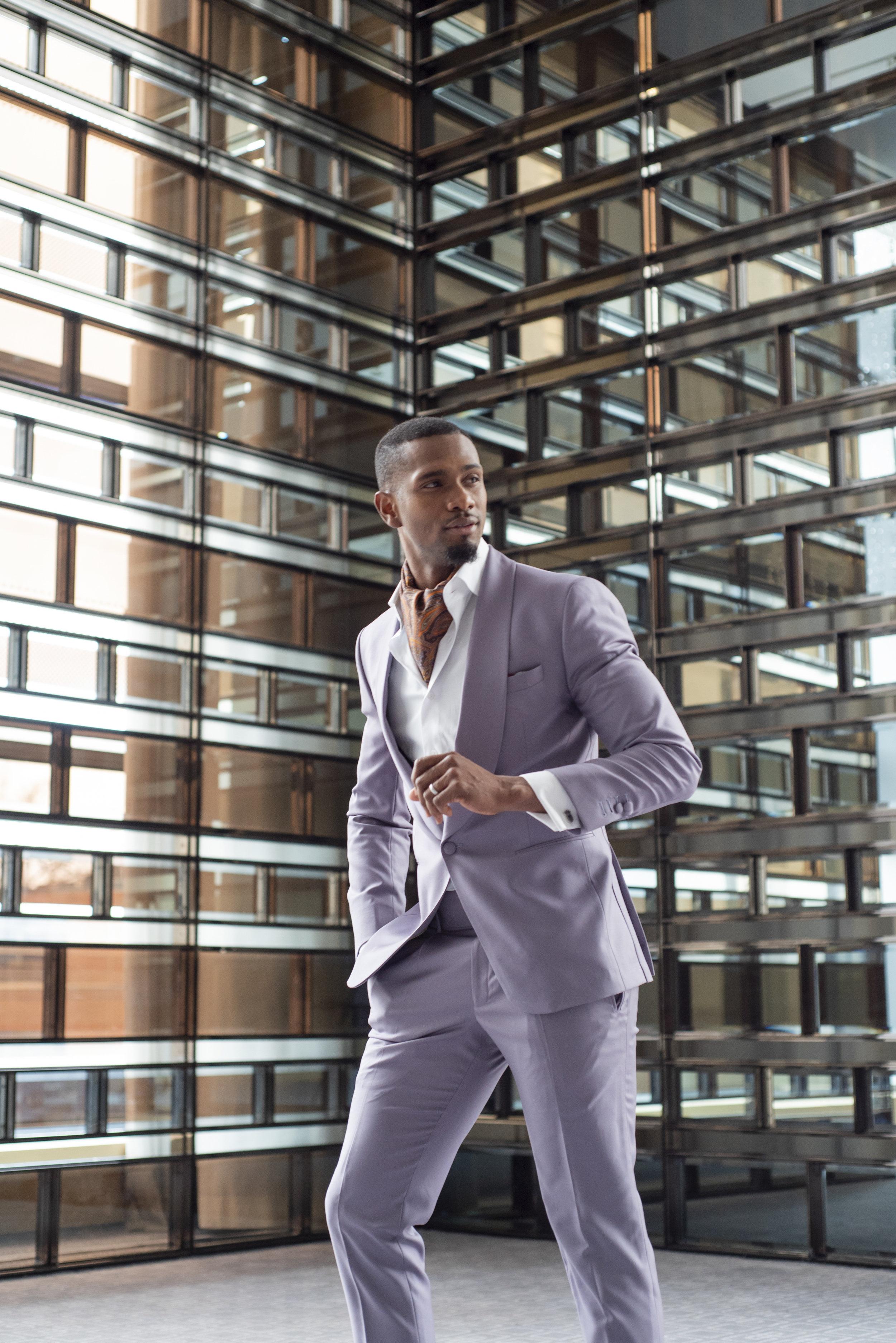 August In Bloom - Groom in purple suit - The Suited Groom (The Bridal Affair)
