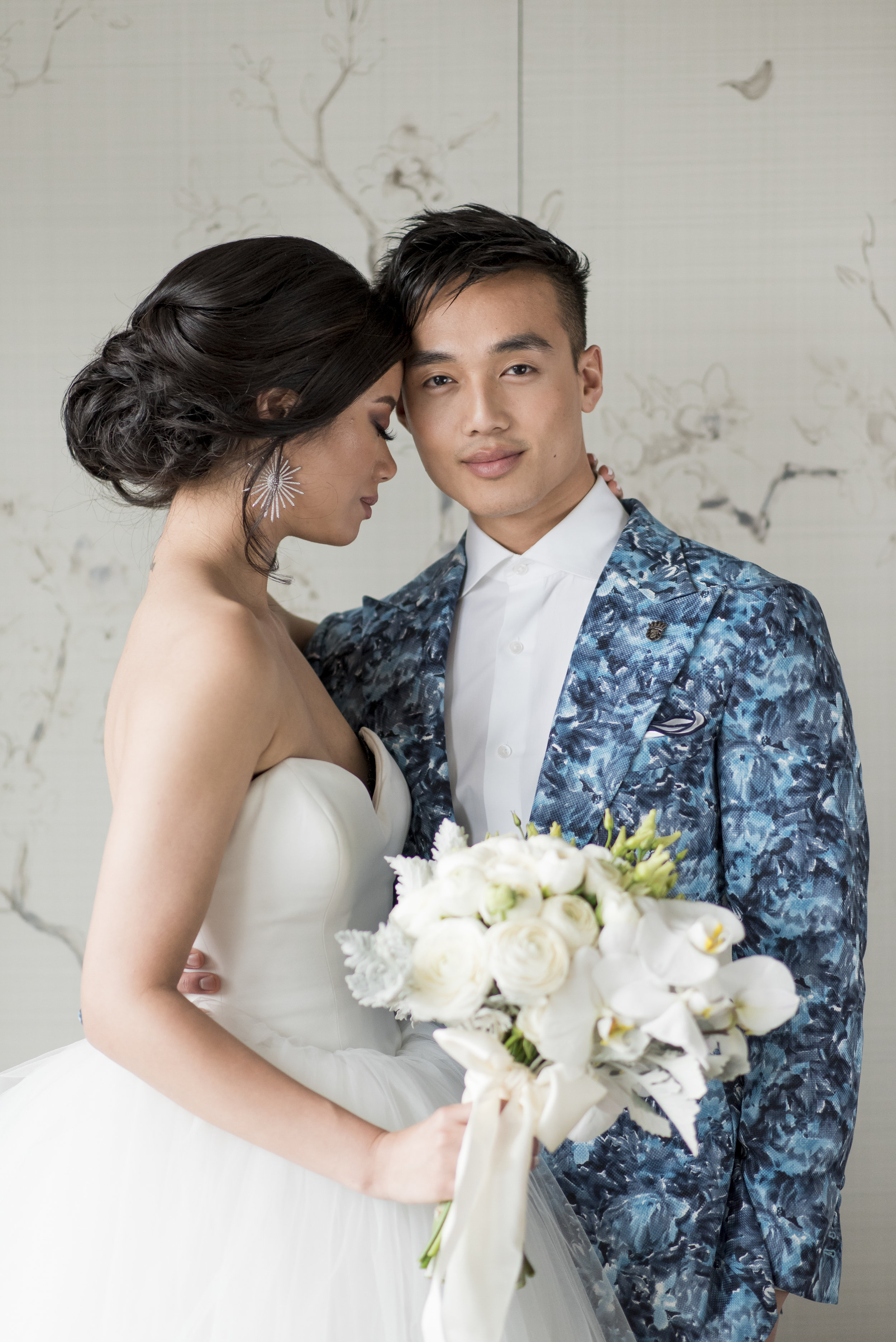 August In Bloom - Couple - The Suited Groom (The Bridal Affair)
