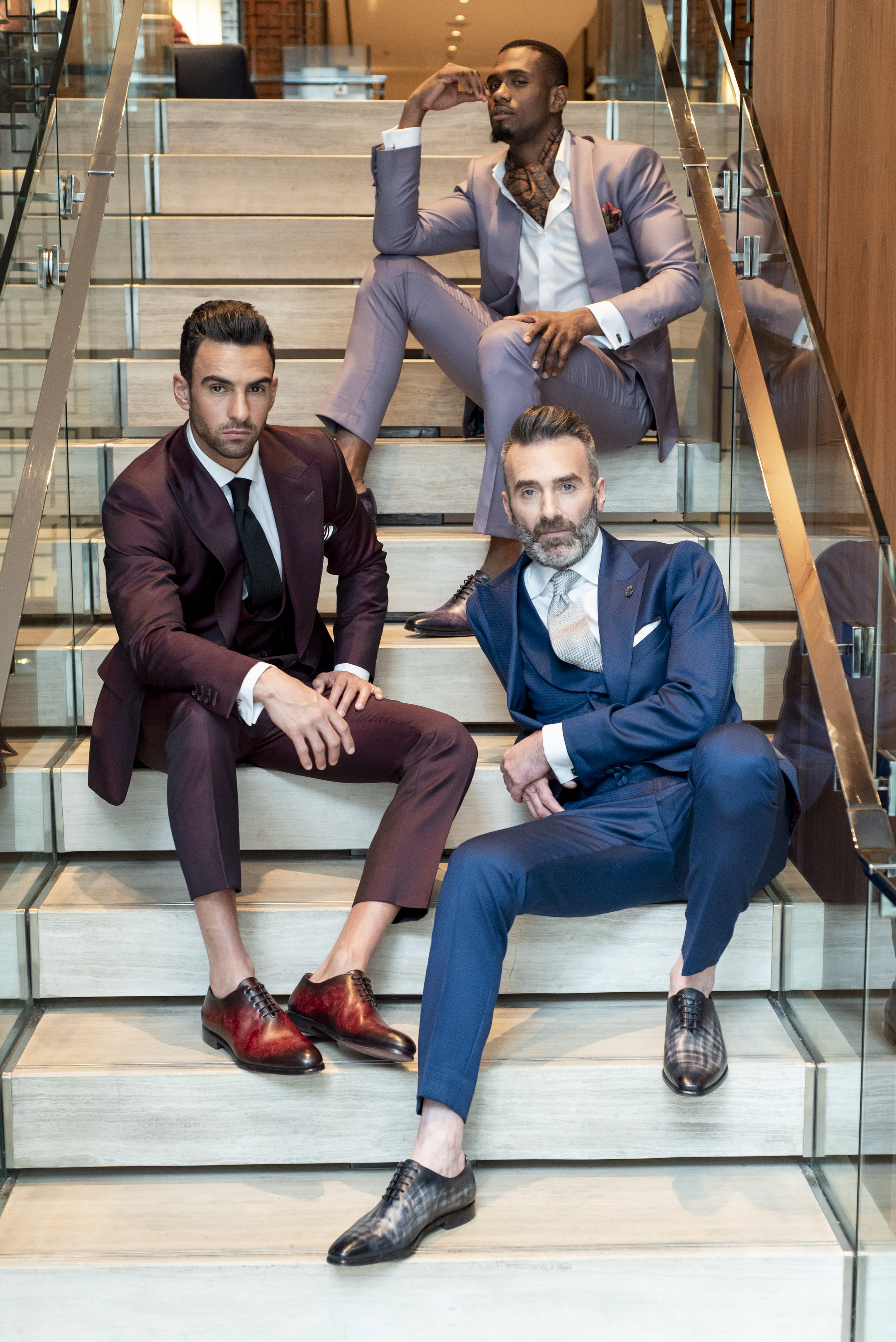 August In Bloom - Grooms group shot - The Suited Groom (The Bridal Affair)