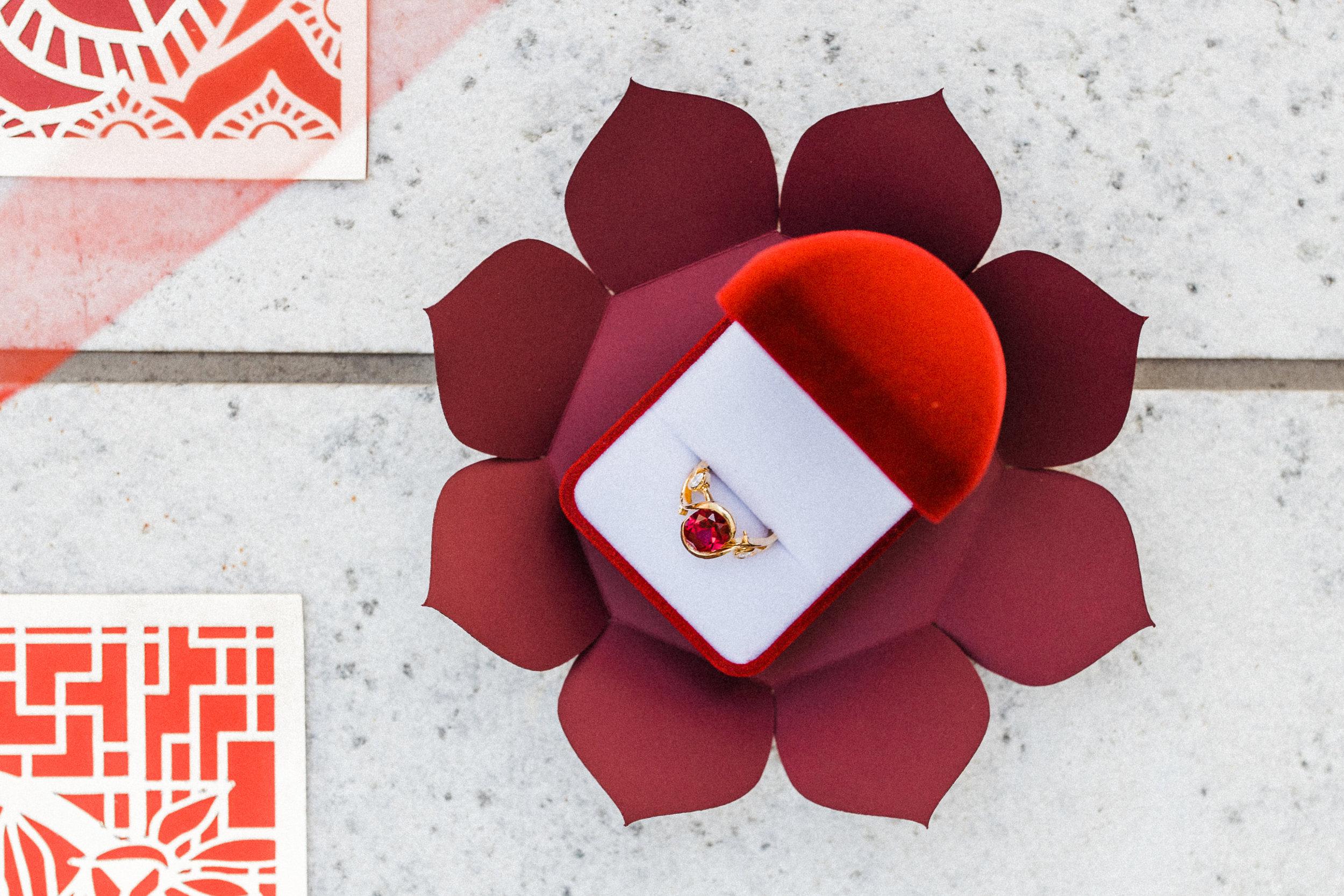 August In Bloom - Wedding ring  - Scarlet Sweetheart (Lavish Dulhan)
