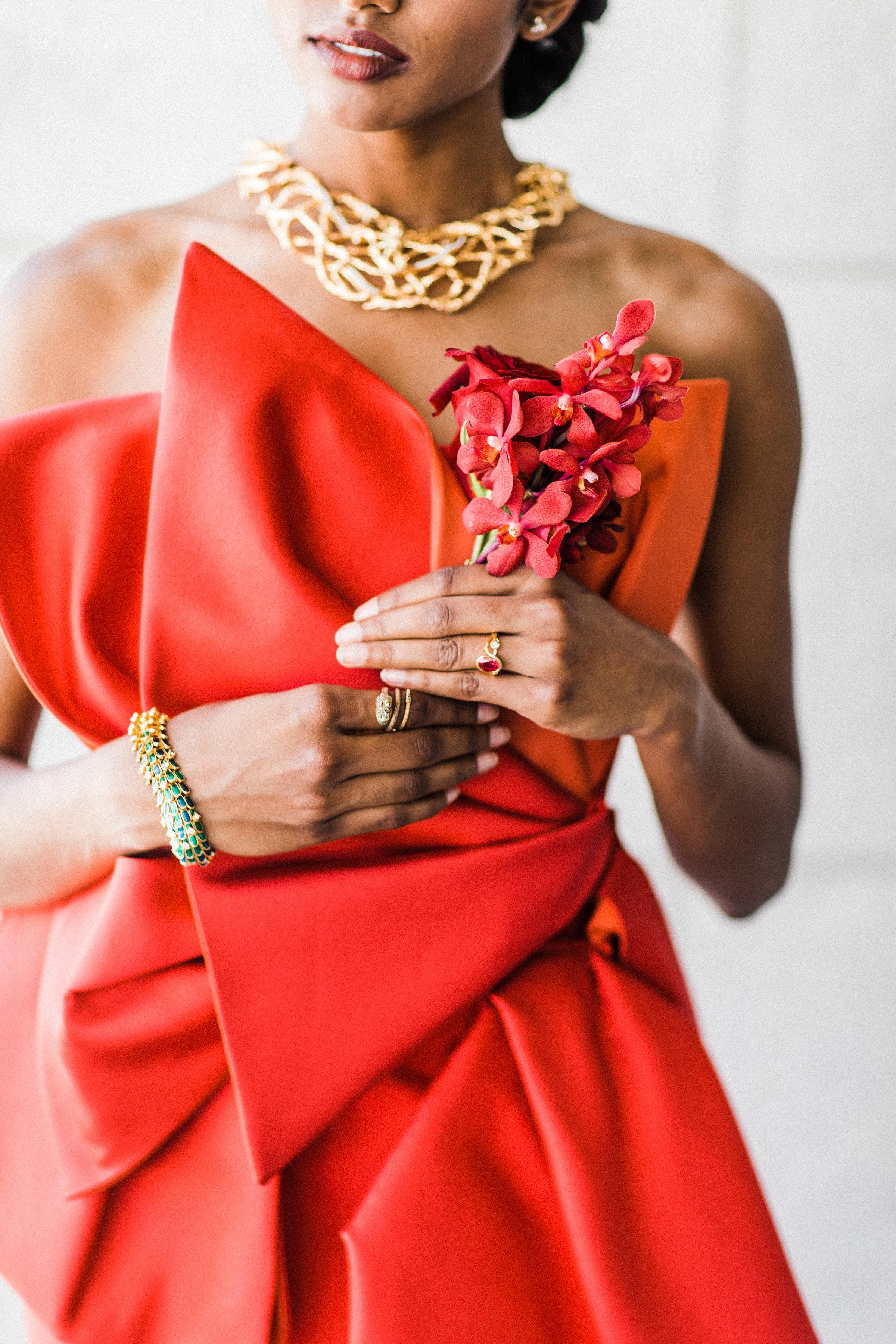 August In Bloom - Bride accessories - Scarlet Sweetheart (Lavish Dulhan)