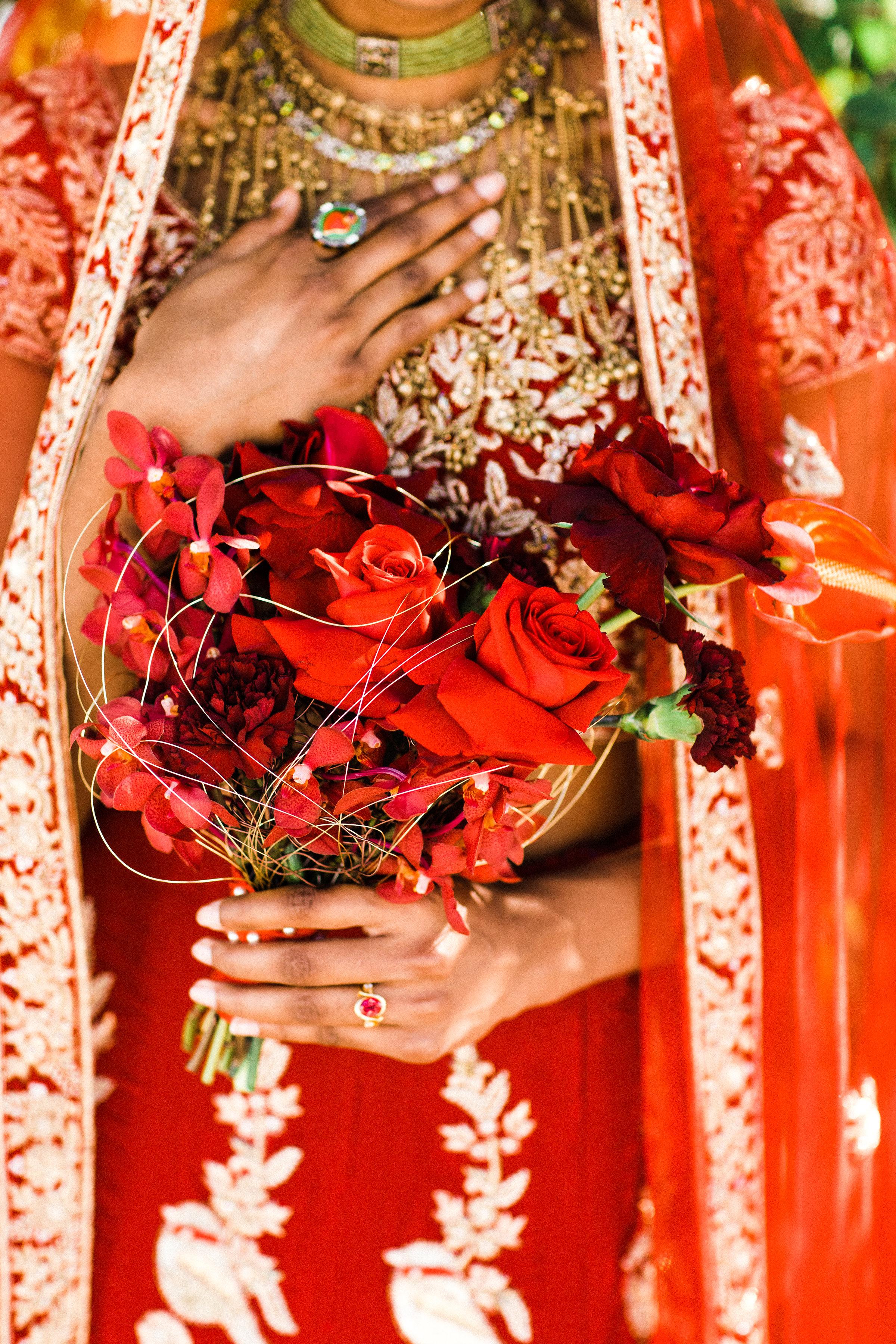 August In Bloom - Bride bouquet - Scarlet Sweetheart (Lavish Dulhan)