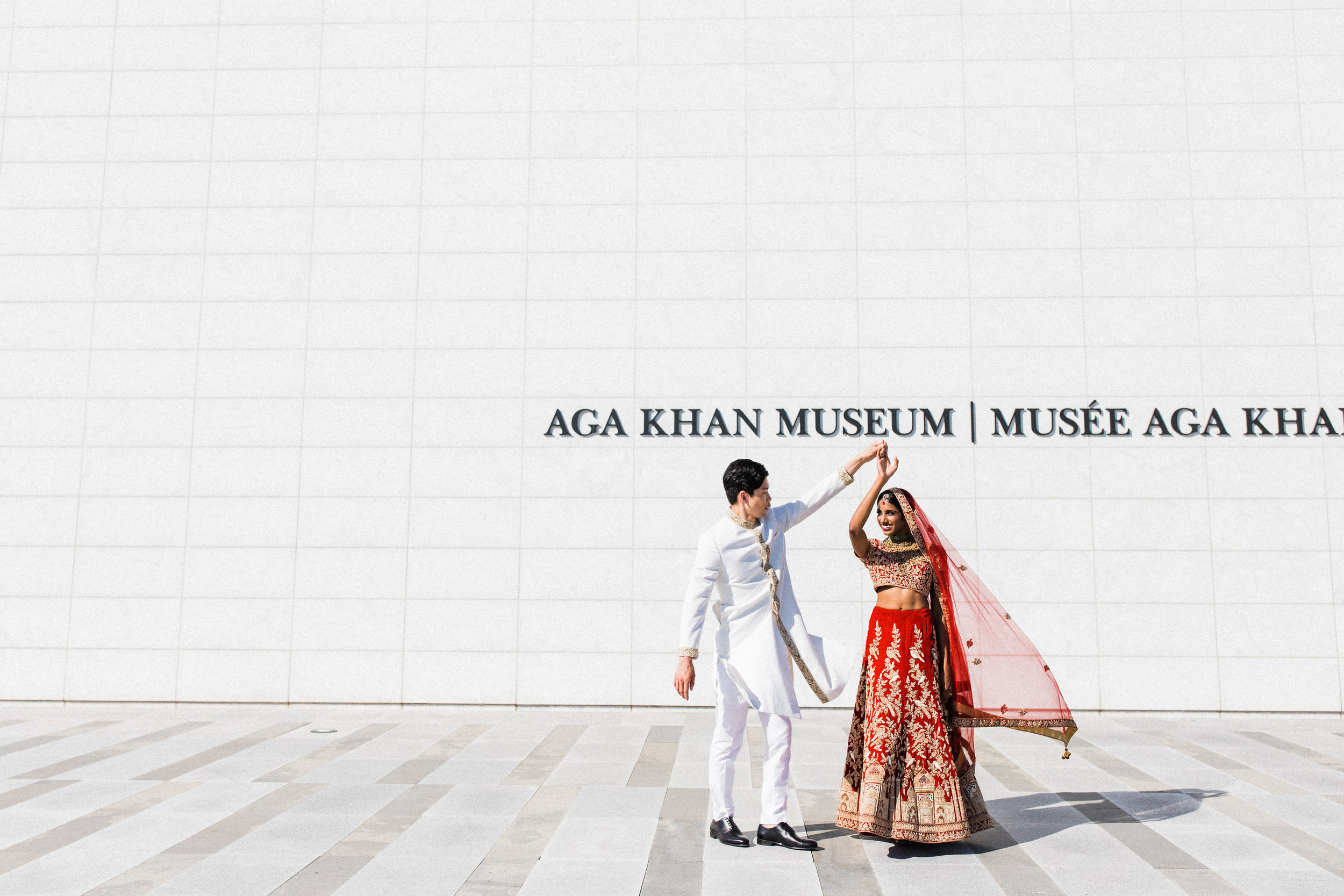 August In Bloom - Bride and groom at Aga Khan - Scarlet Sweetheart (Lavish Dulhan)