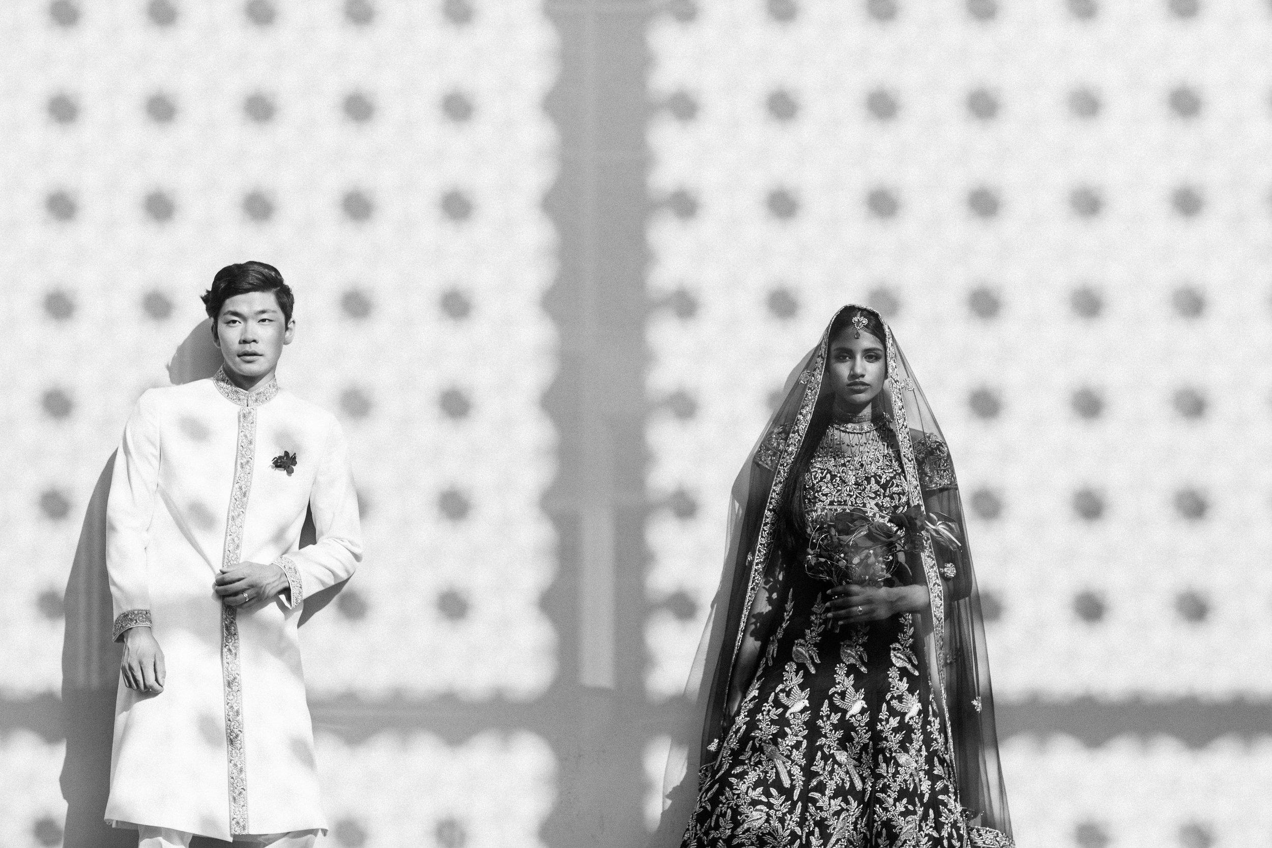 August In Bloom - Bride and groom - Scarlet Sweetheart (Lavish Dulhan)