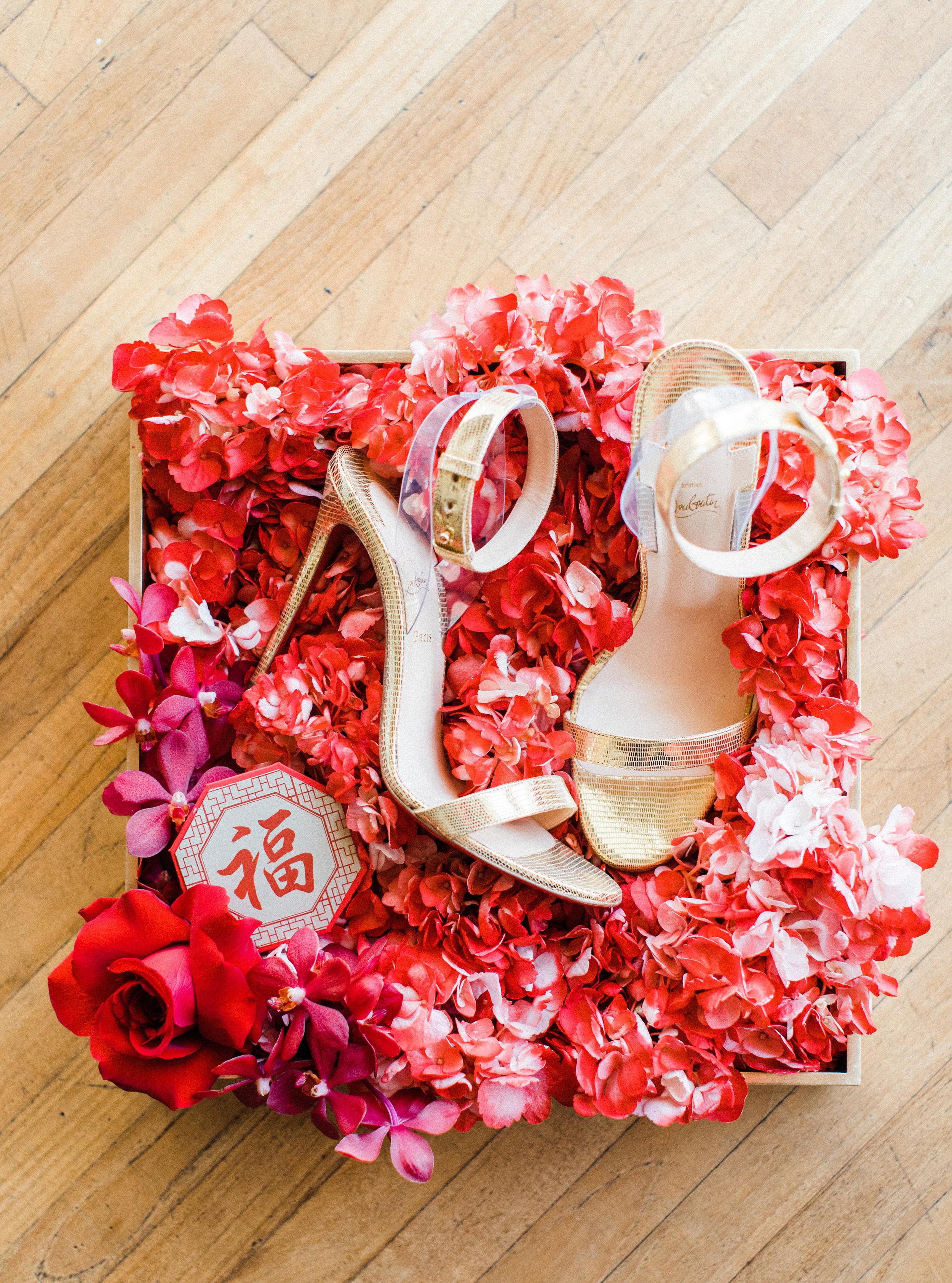 August In Bloom - Bride heels - Scarlet Sweetheart (Lavish Dulhan)
