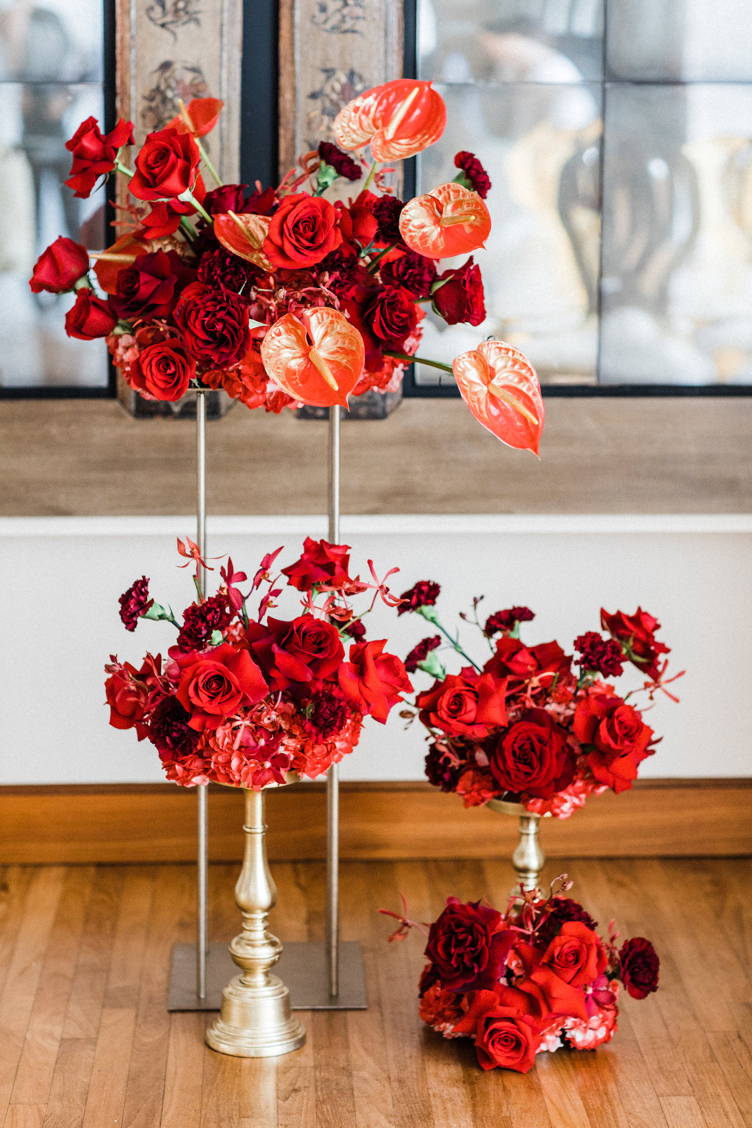 August In Bloom - Ceremony florals - Scarlet Sweetheart (Lavish Dulhan)