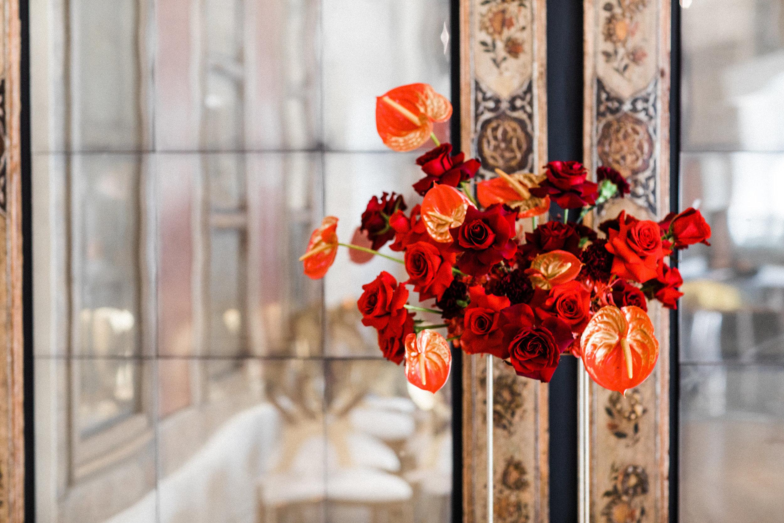 August In Bloom - Floral arrangement - Scarlet Sweetheart (Lavish Dulhan)