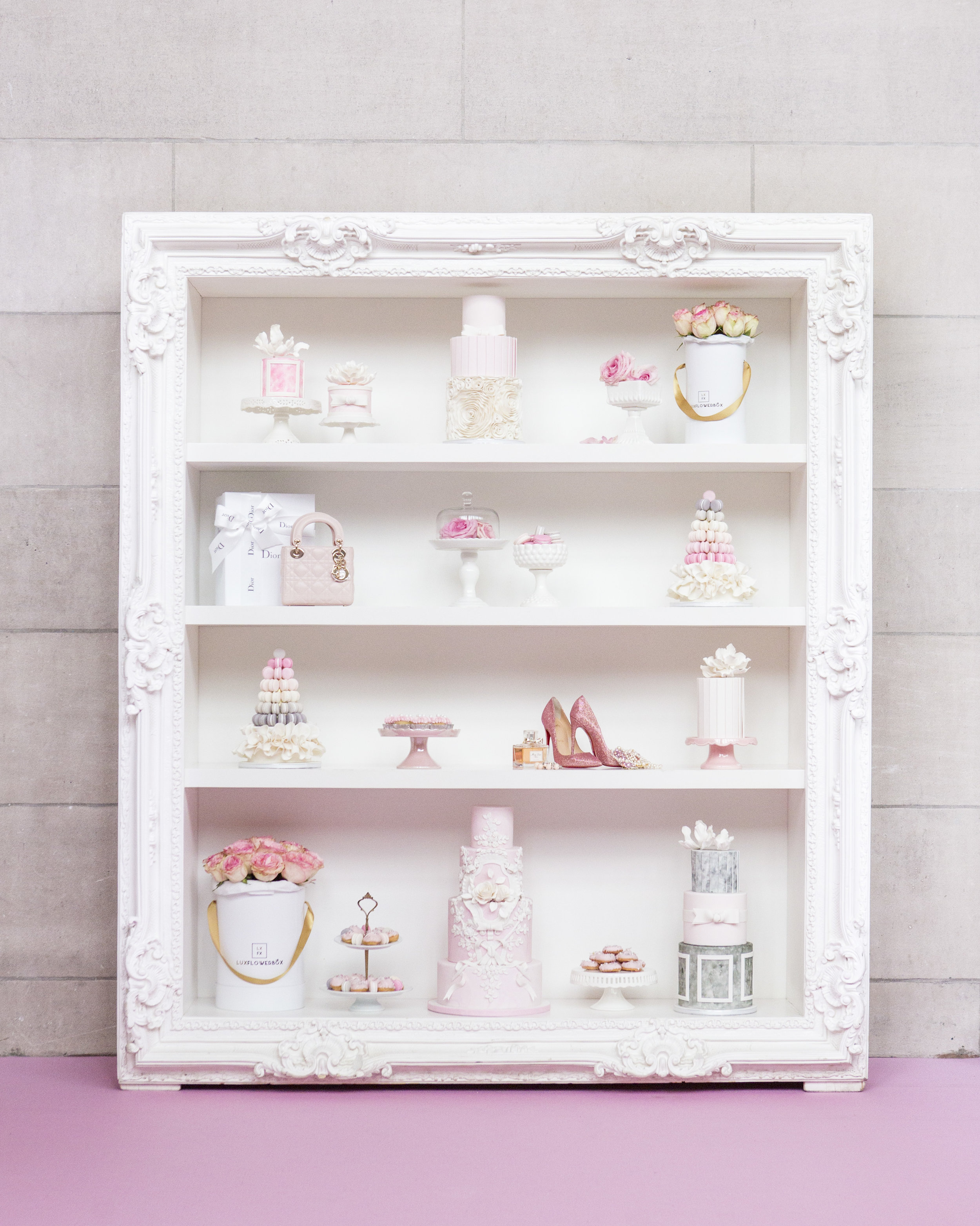 August in Bloom - Shelving unit full of sweets - Dior Darling