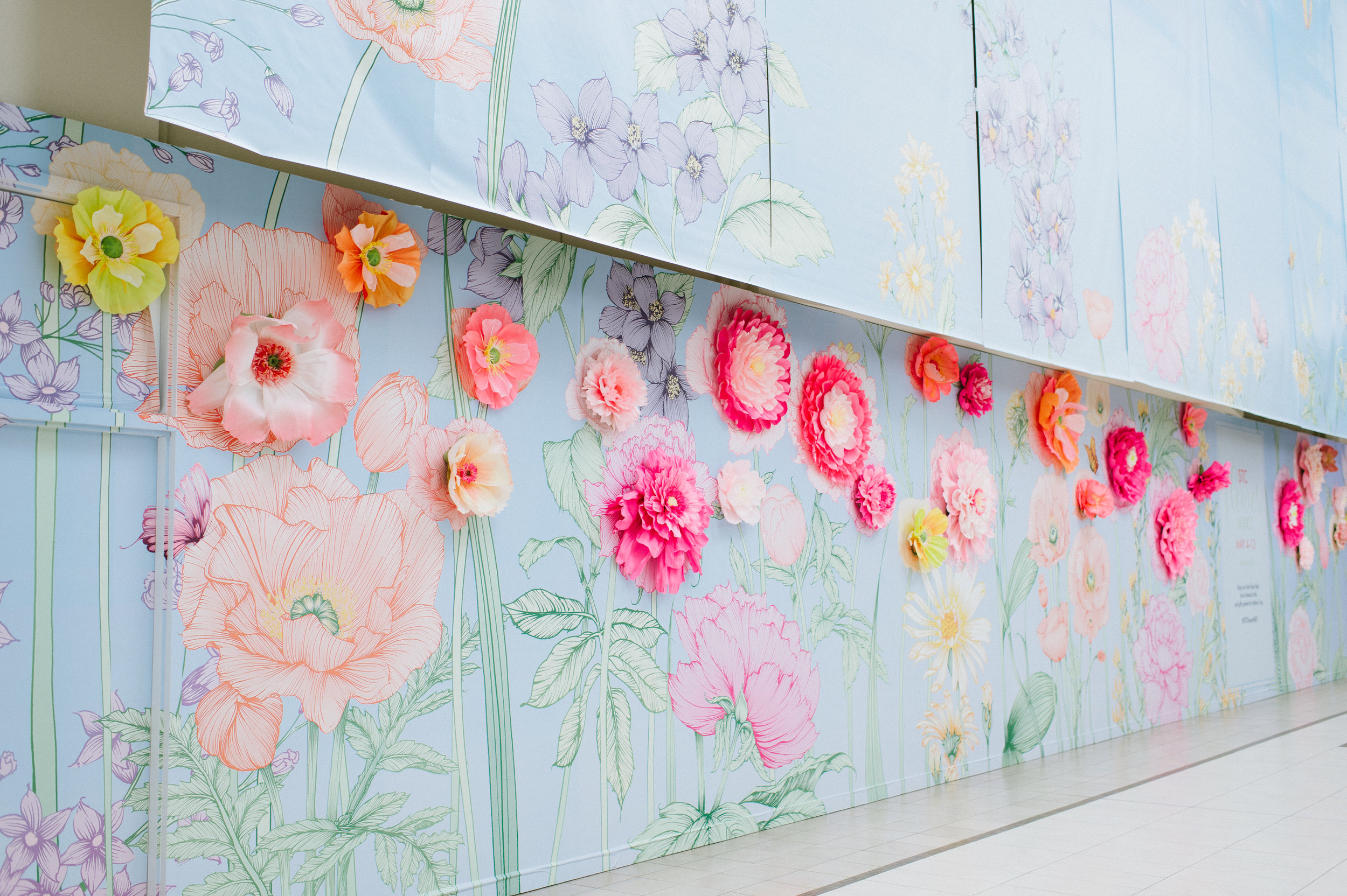 August In Bloom - 3D flower wall - STC Spring Bloom Wall (Scarborough Town Centre)