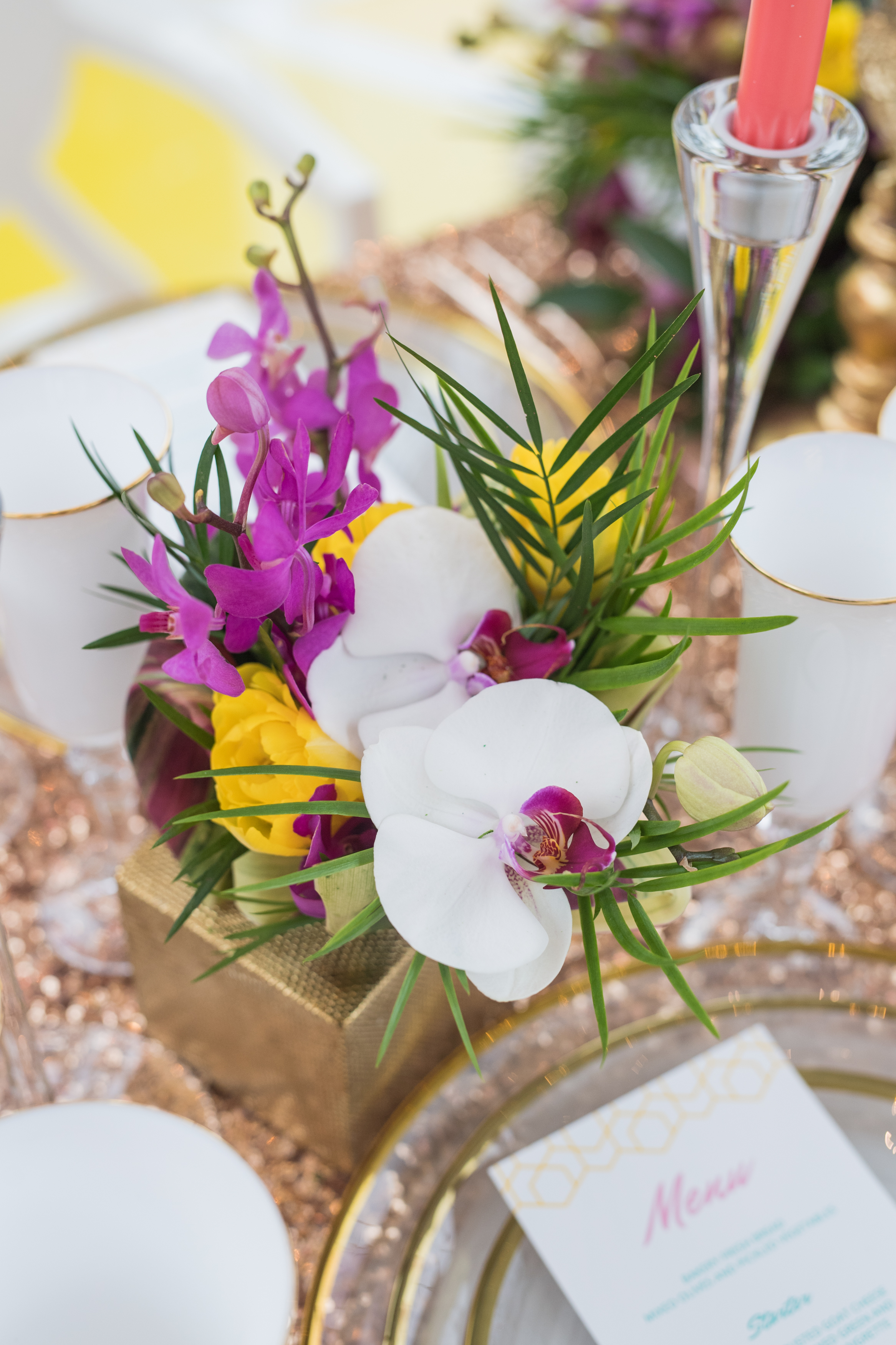 August In Bloom - Orchid centrepiece - #SQ1Bridal (Square One Shopping Centre)