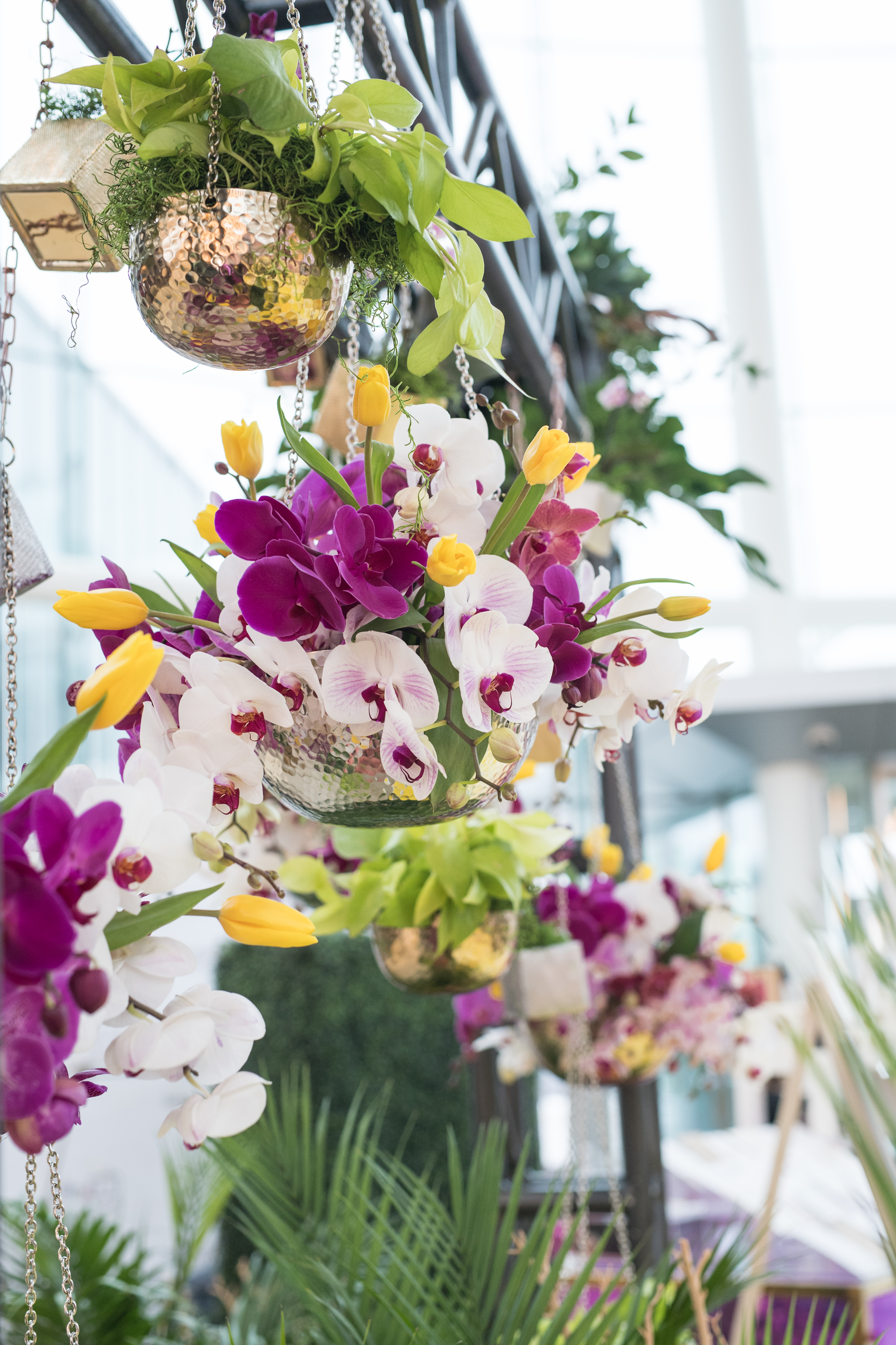 August In Bloom - Orchid and lily flower pots - #SQ1Bridal (Square One Shopping Centre)