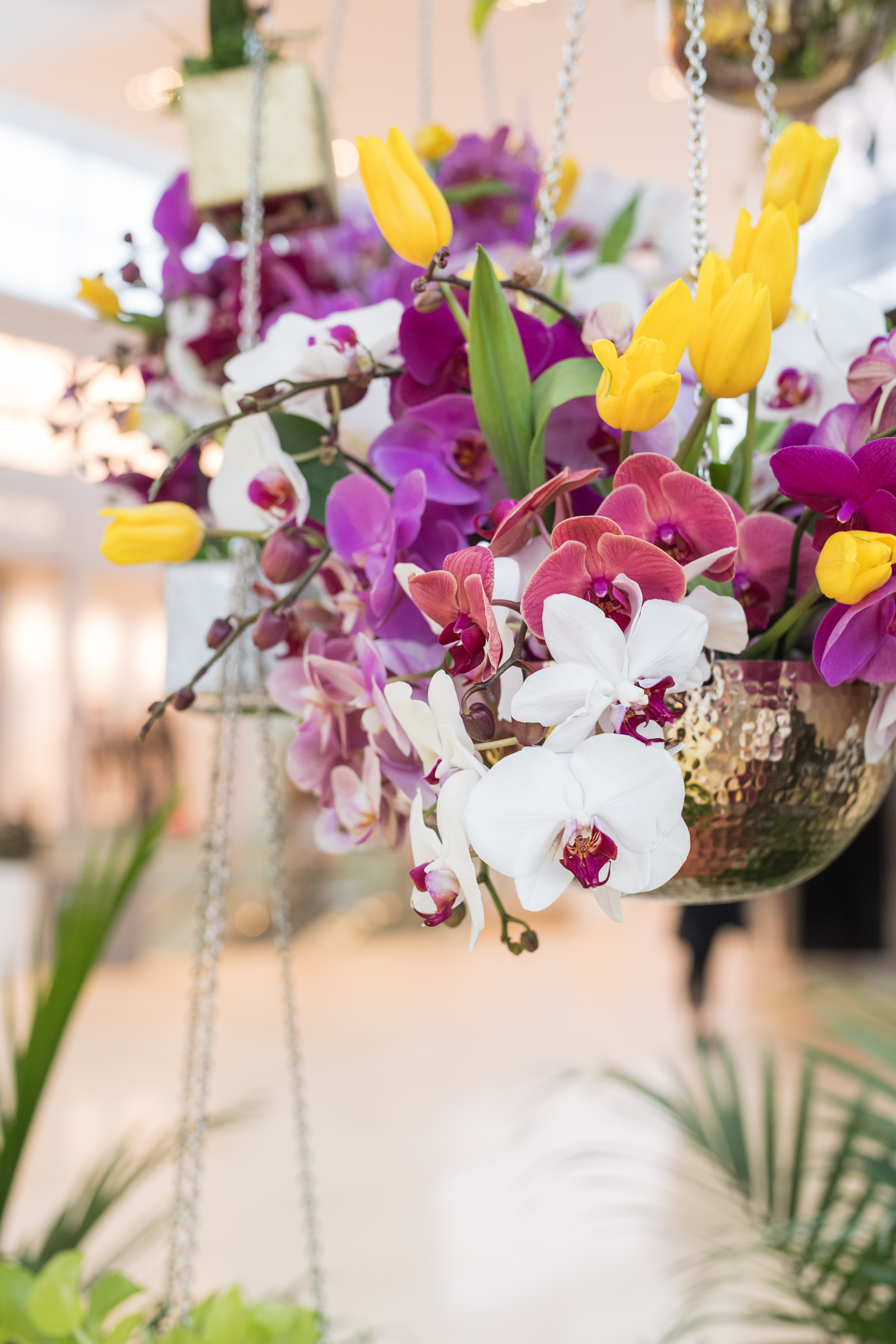 August In Bloom - Orchid and lily flower pot - #SQ1Bridal (Square One Shopping Centre)