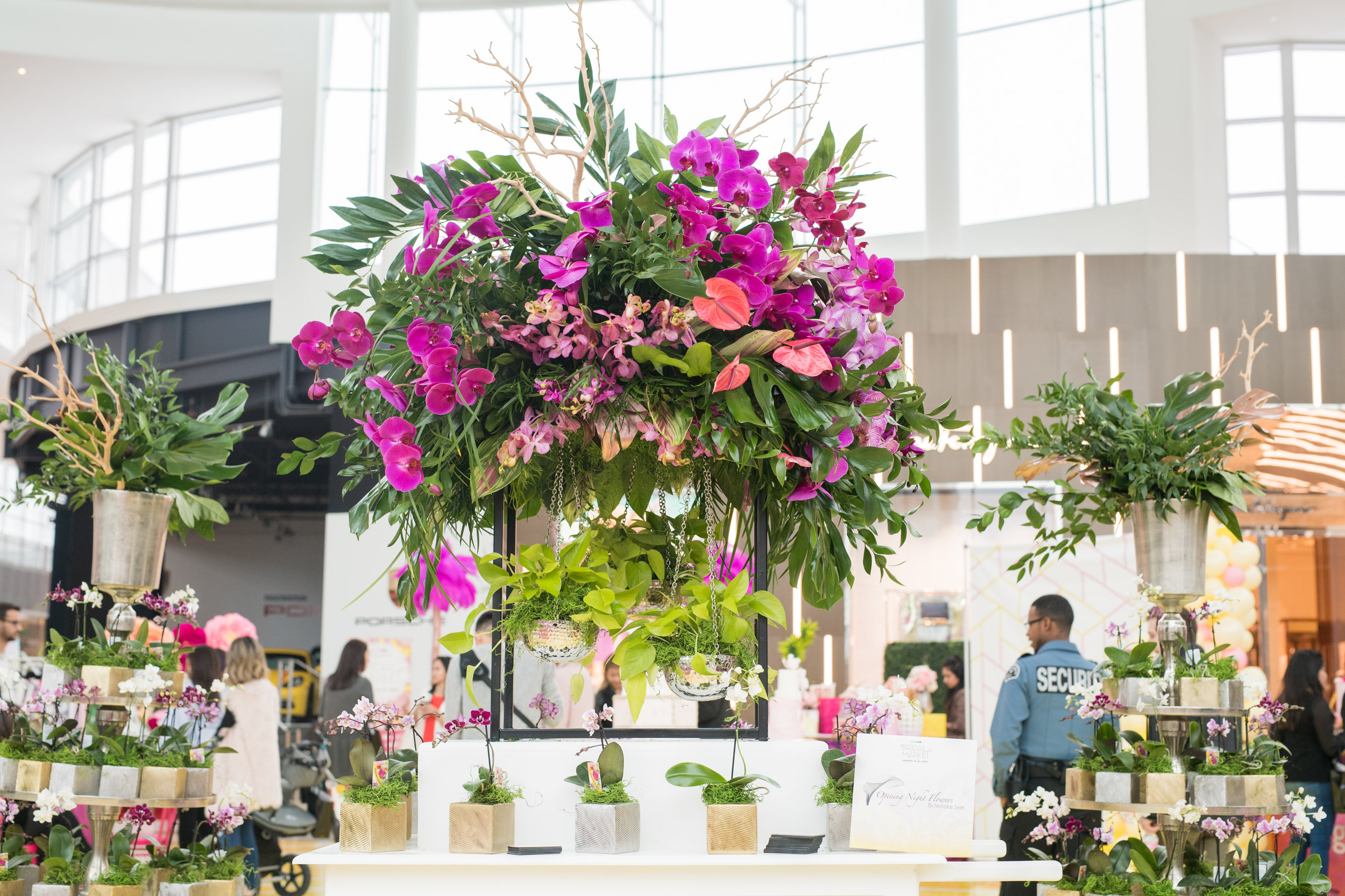 August In Bloom - Flower set up - #SQ1Bridal (Square One Shopping Centre)