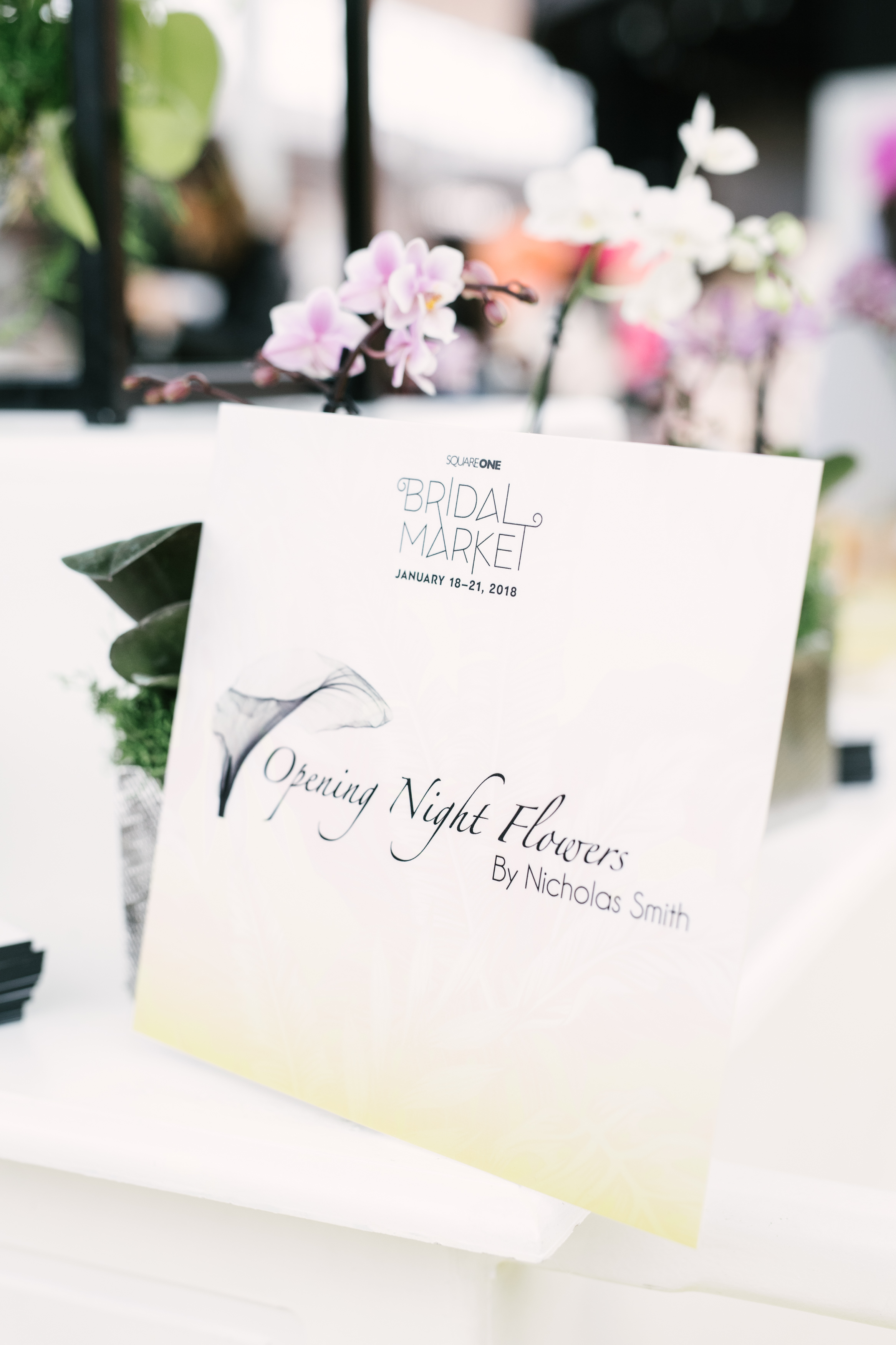 August In Bloom - Opening Night flowers sign - #SQ1Bridal (Square One Shopping Centre)