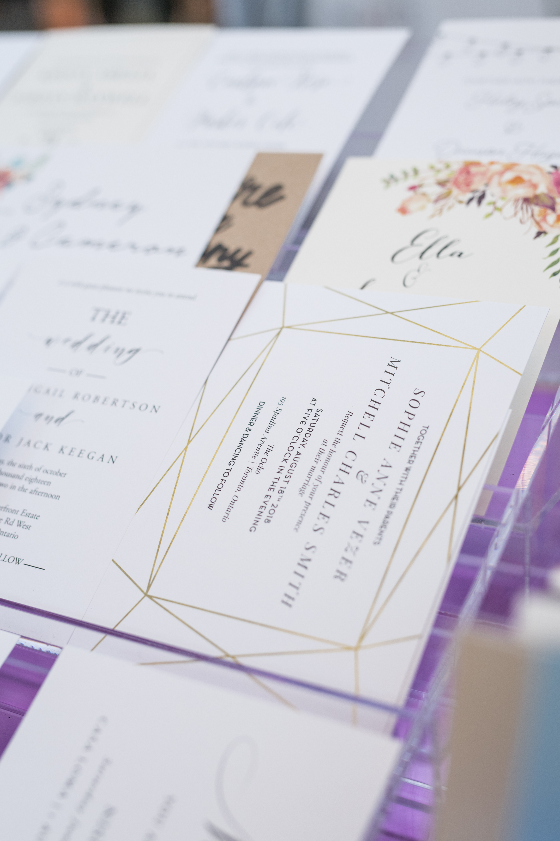 August In Bloom - Wedding invitations - #SQ1Bridal (Square One Shopping Centre)