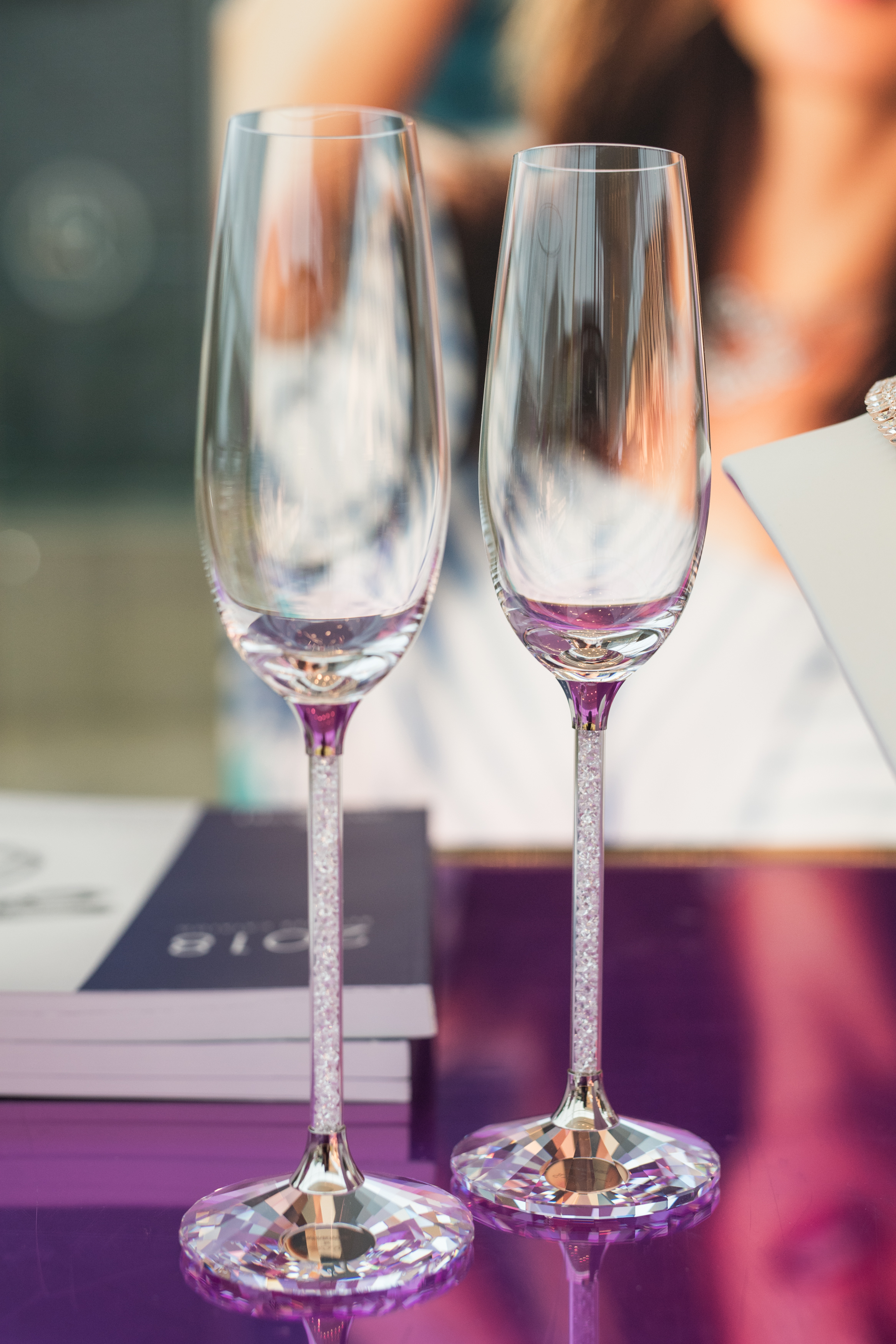 August In Bloom - Champagne flutes - #SQ1Bridal (Square One Shopping Centre)