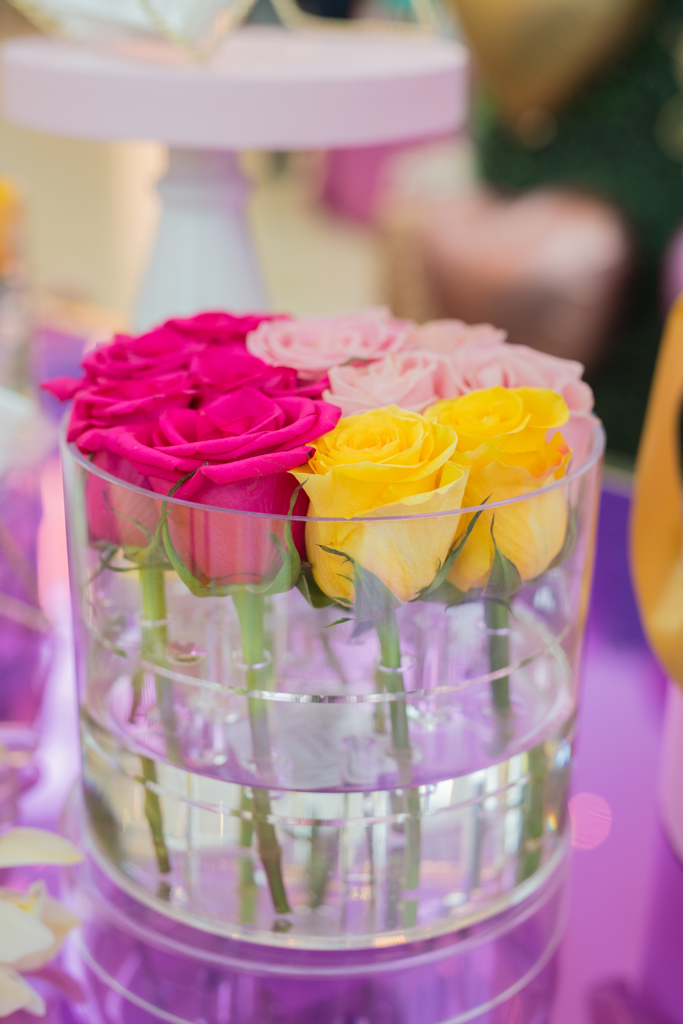 August In Bloom - Pink and yellow roses - #SQ1Bridal (Square One Shopping Centre)