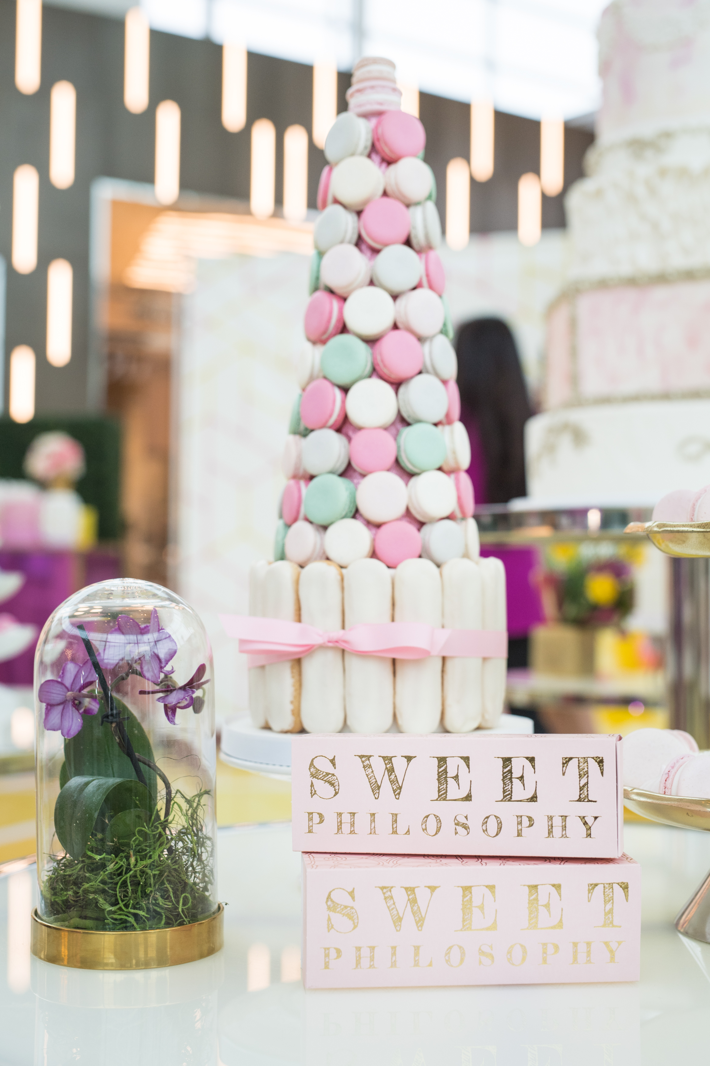 August In Bloom - Macaron tower - #SQ1Bridal (Square One Shopping Centre)