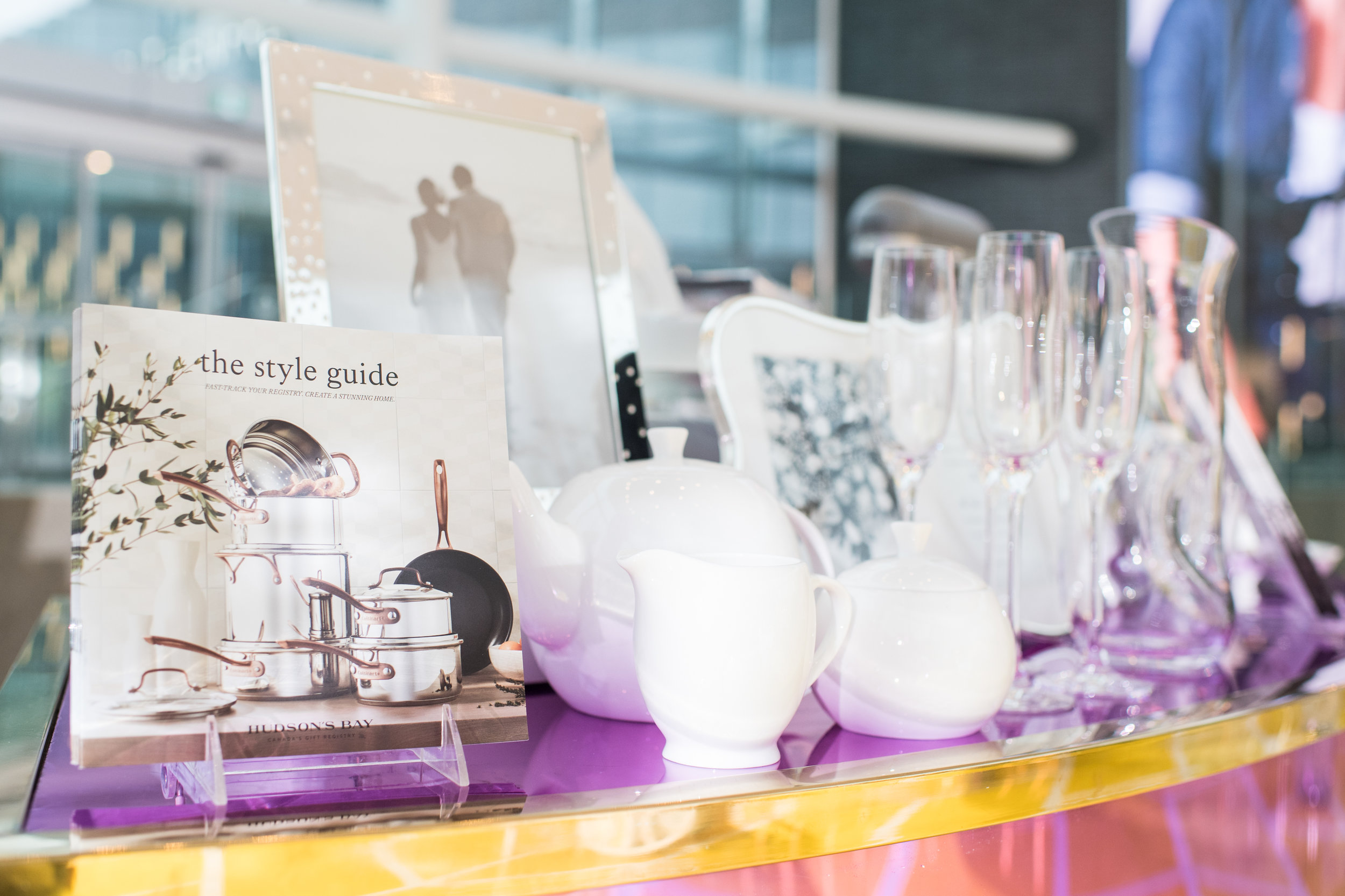August In Bloom - Hudson's Bay kitchenware - #SQ1Bridal (Square One Shopping Centre)