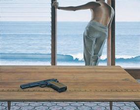 Alex Colville,  Pacific ,1968, acrylic on hardboard.Copyright A.C. Fine Art Inc.