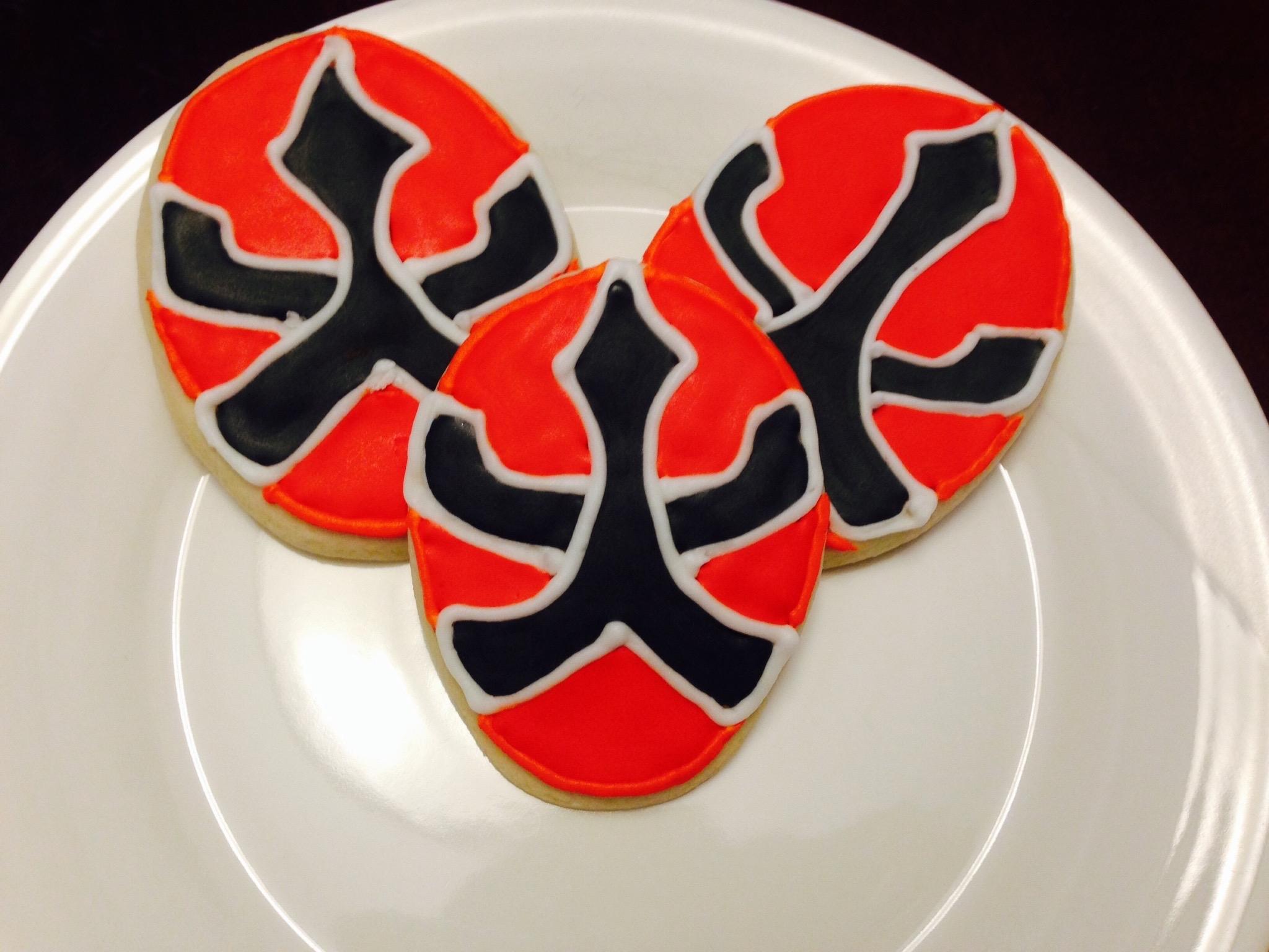 Red Power Ranger Cookies